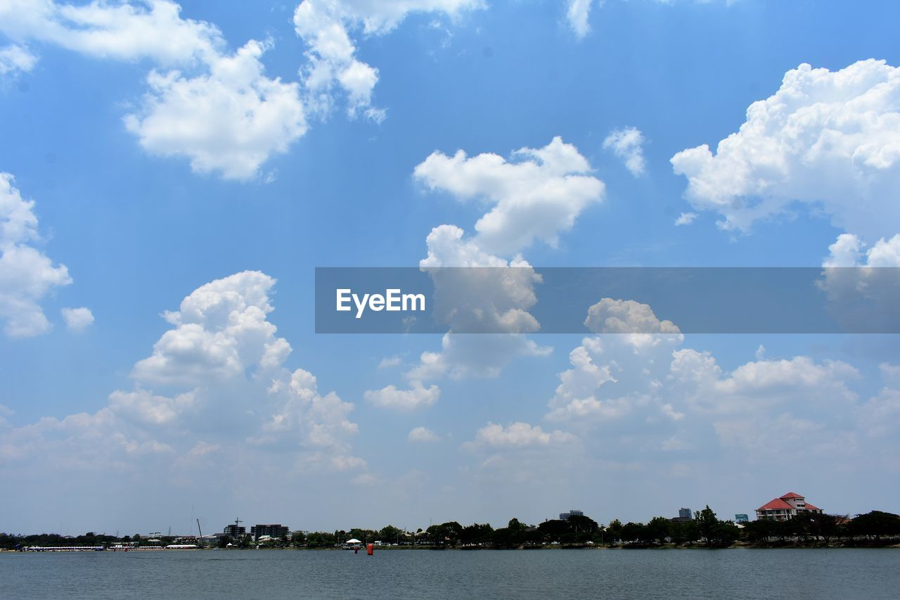 cloud - sky, sky, beauty in nature, scenics - nature, water, tranquility, nature, day, tranquil scene, tree, plant, waterfront, nautical vessel, no people, outdoors, lake, non-urban scene, idyllic, architecture