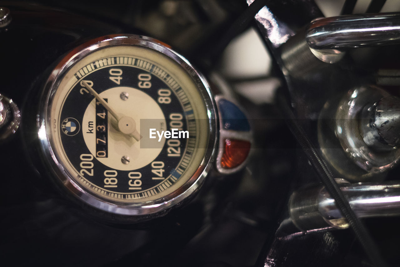 old-fashioned, number, transportation, retro styled, car, antique, land vehicle, close-up, speedometer, mode of transport, no people, technology, vintage, gauge, indoors, day