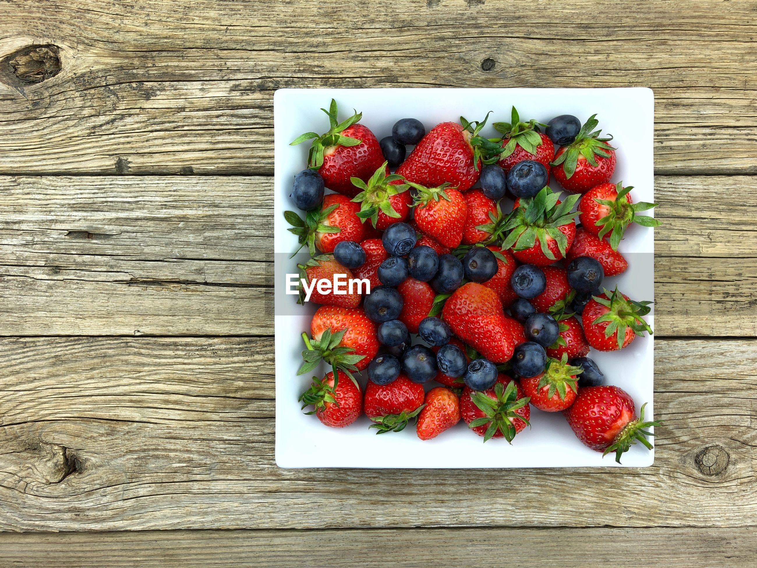 High angle view of fruit on table