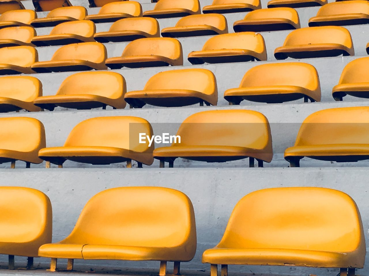 Full frame shot of yellow chairs