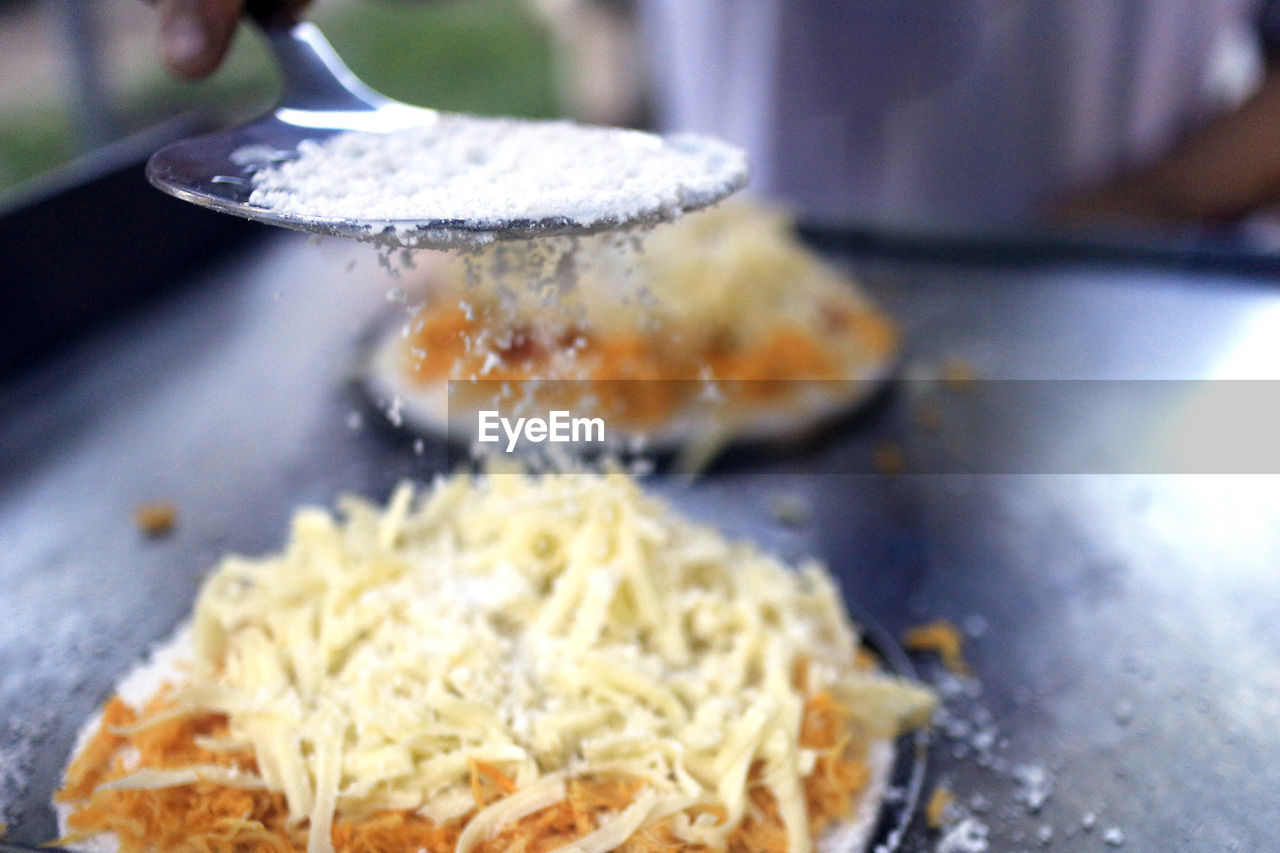 Close-Up Of Food In Cooking