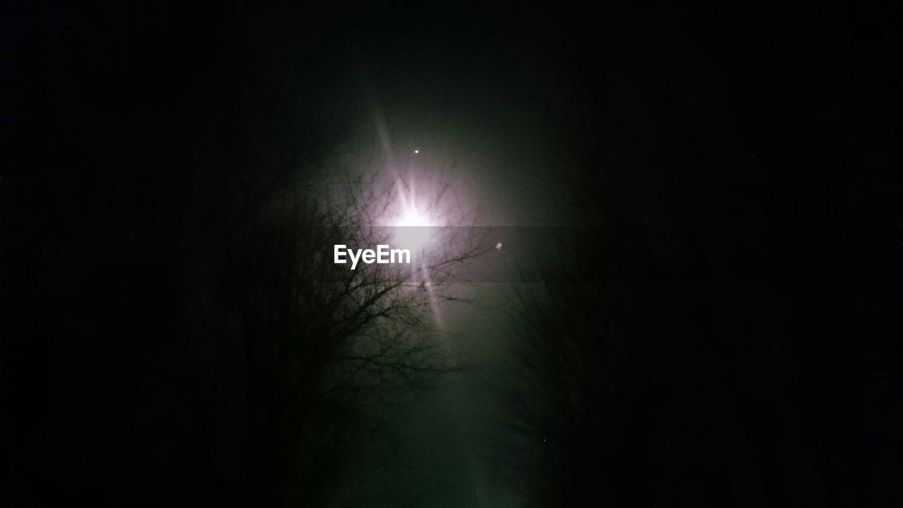 night, dark, moon, nature, beauty in nature, silhouette, no people, outdoors, illuminated, scenics, sky, solar eclipse, tree, astronomy