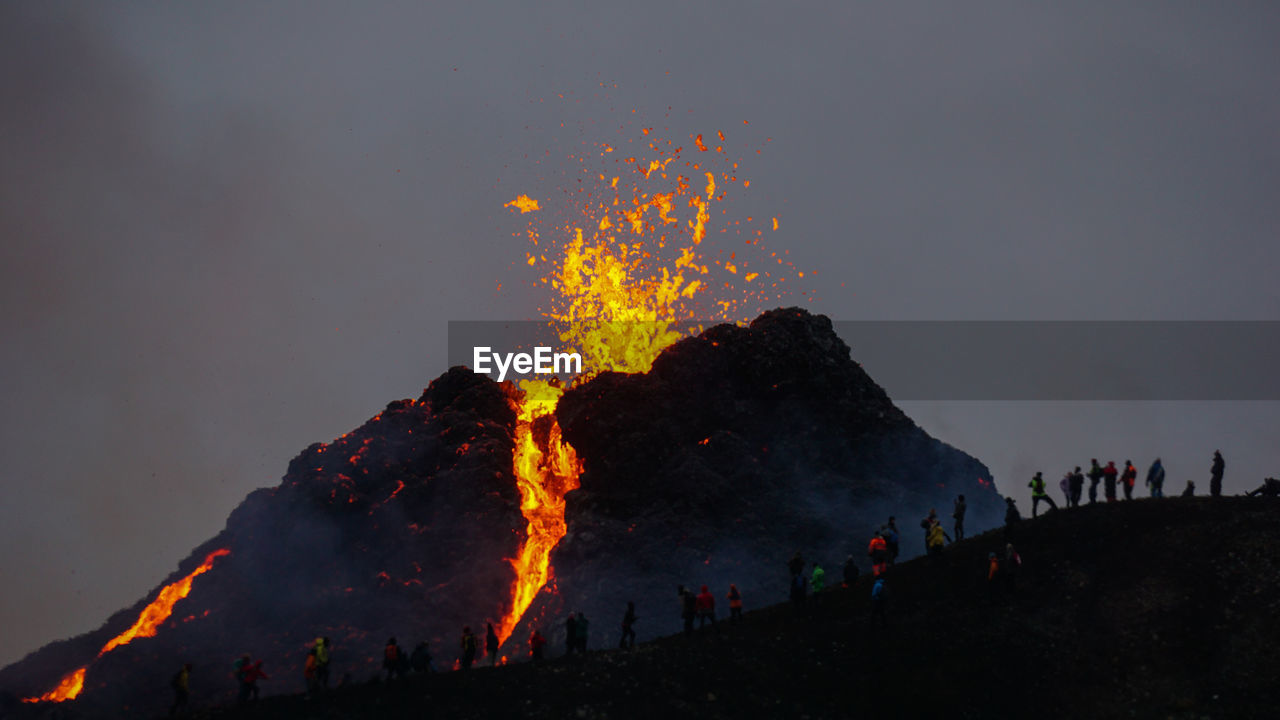 Volcanic eruption in mt fagradalsfjall, southwest iceland. the eruption began in march 2021.