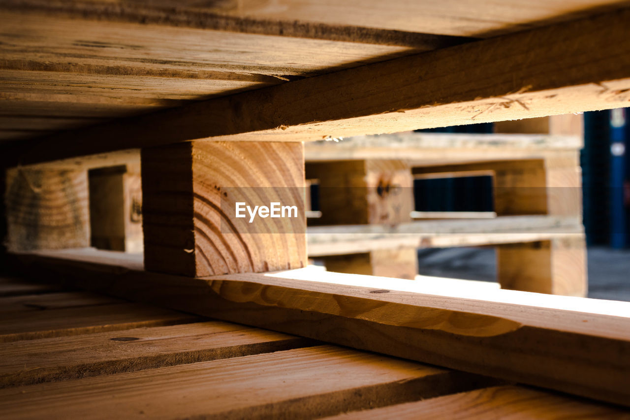 Wooden structure of building