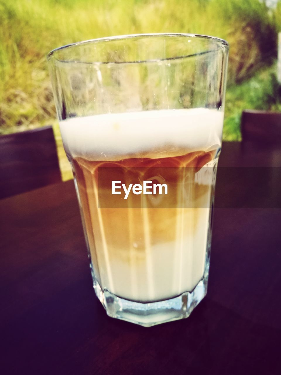 drink, drinking glass, food and drink, refreshment, coffee - drink, table, freshness, close-up, no people, day, iced coffee, indoors, healthy eating, food