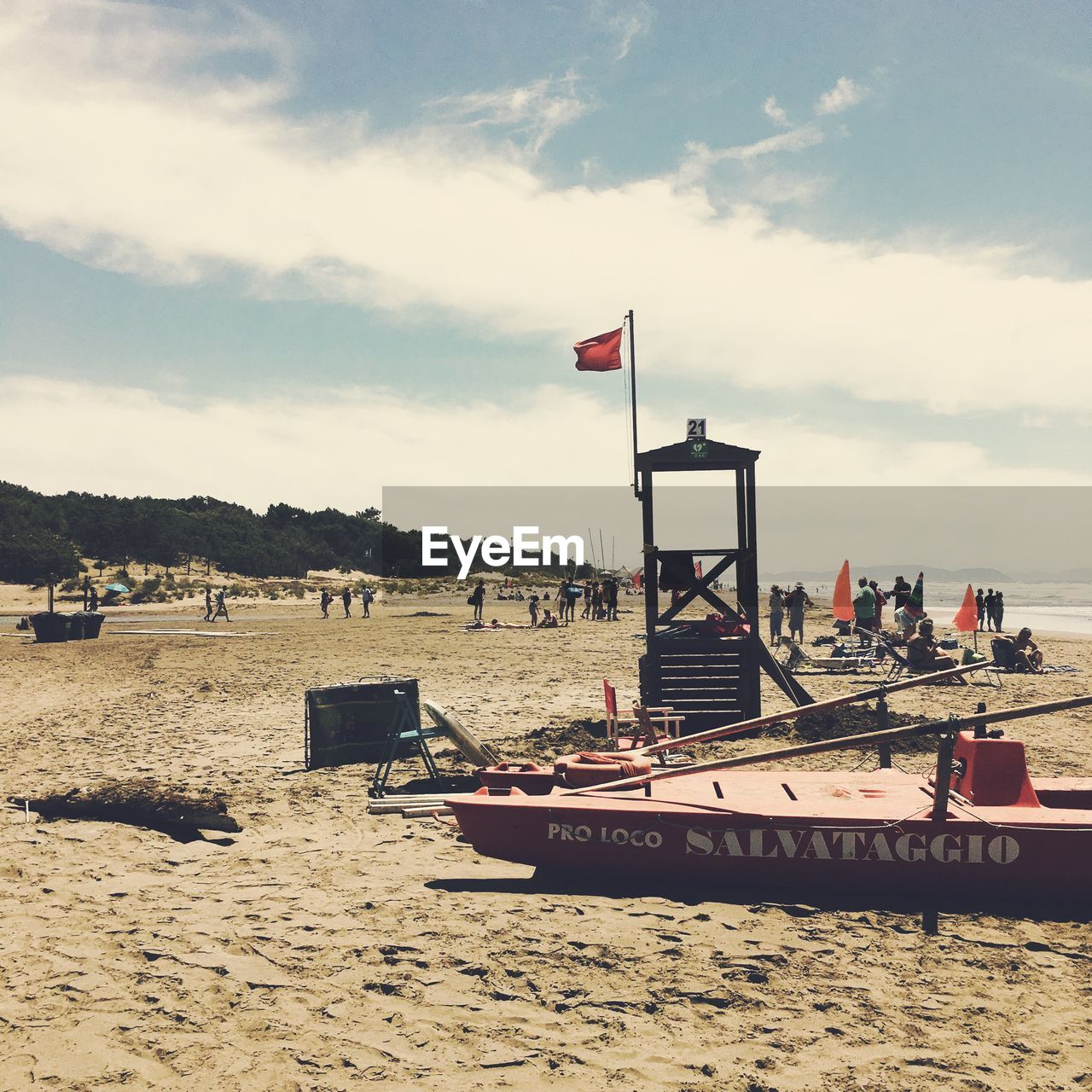 sand, beach, cloud - sky, sky, sea, flag, nature, water, day, outdoors, scenics, nautical vessel, beauty in nature, no people