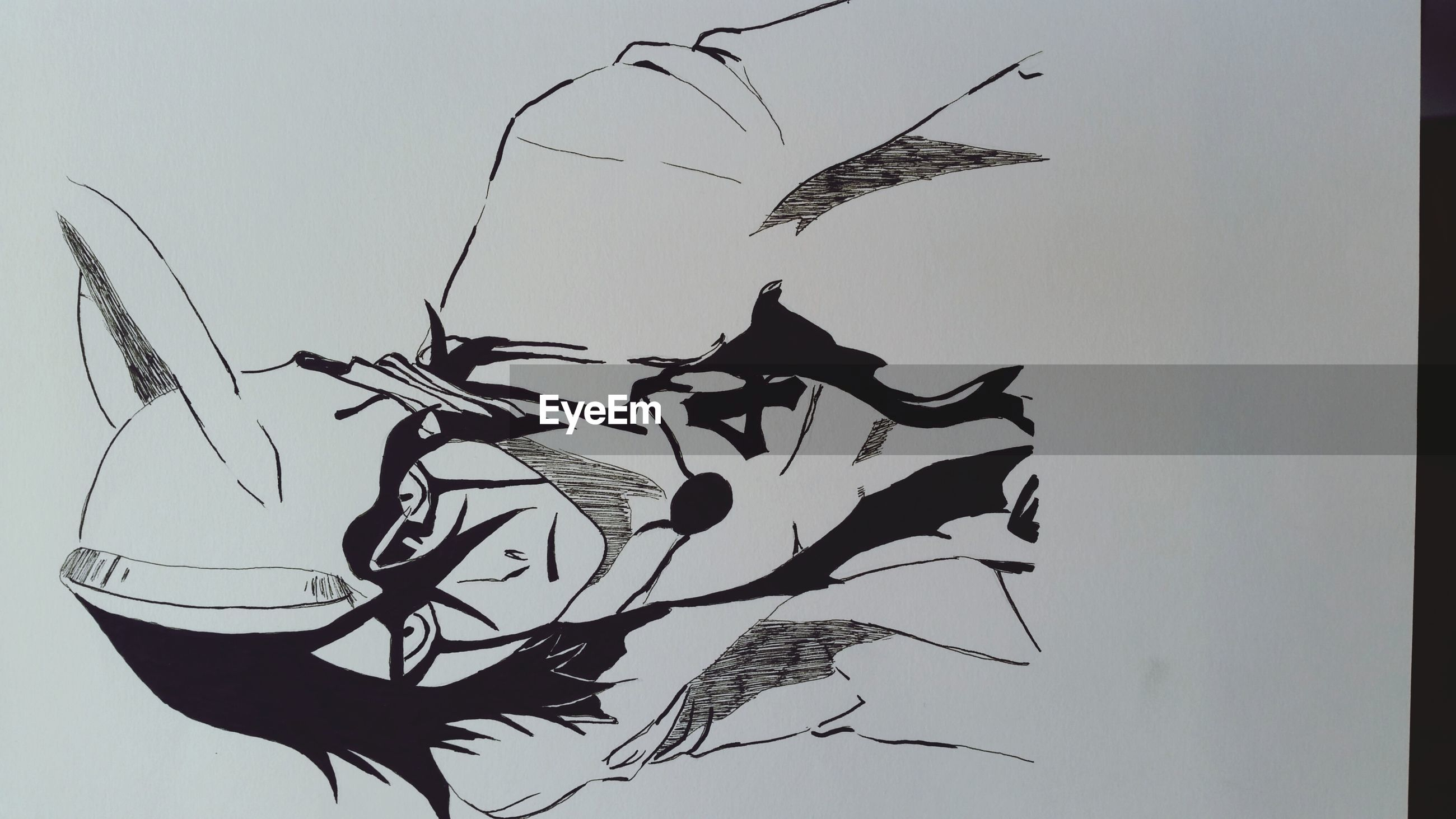 low angle view, bird, animal themes, clear sky, art, studio shot, art and craft, copy space, creativity, nature, animals in the wild, no people, white background, branch, wildlife, animal representation, one animal, sky, flying, close-up