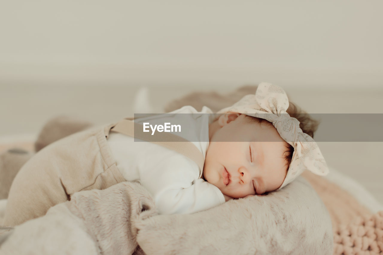 baby, young, child, childhood, babyhood, innocence, real people, sleeping, cute, one person, newborn, lying down, relaxation, bed, indoors, blanket, toddler, beginnings, eyes closed, wrapped in a blanket