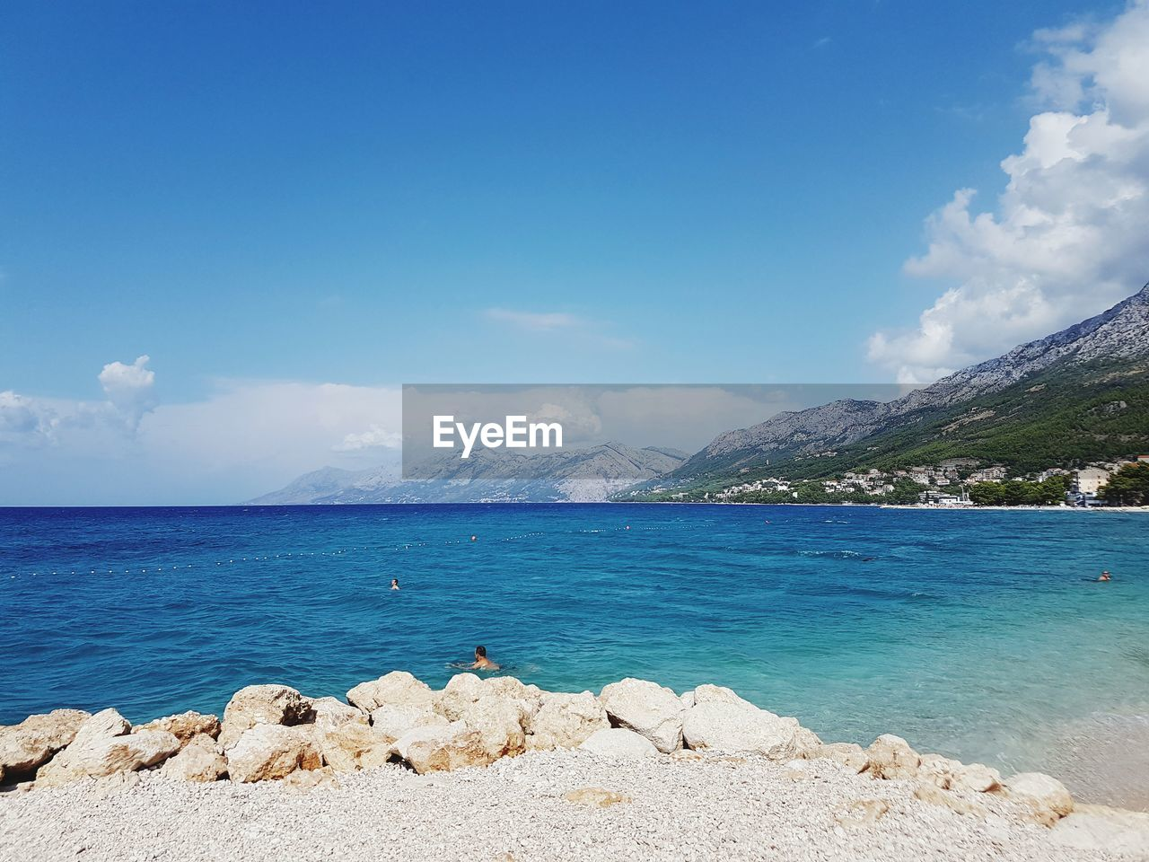 water, sky, sea, beauty in nature, scenics - nature, tranquility, tranquil scene, cloud - sky, mountain, blue, rock, day, nature, beach, rock - object, solid, land, idyllic, no people, outdoors