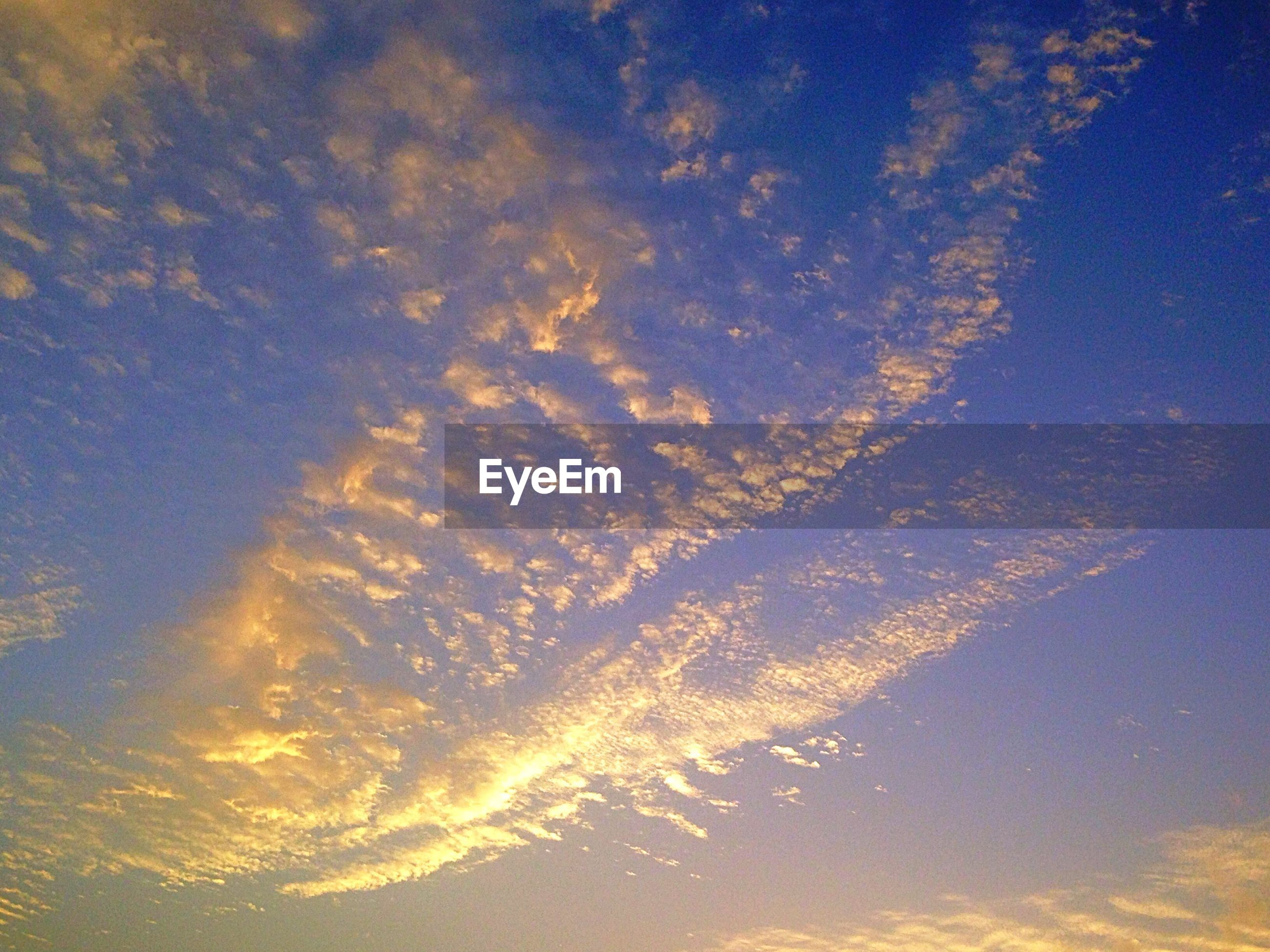 Low angle view of clouds during sunset
