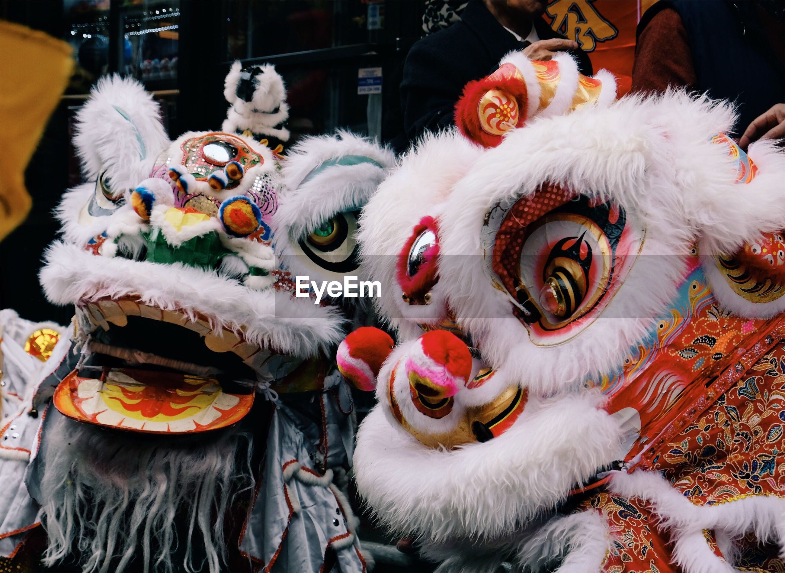 Close-up of chinese dragons