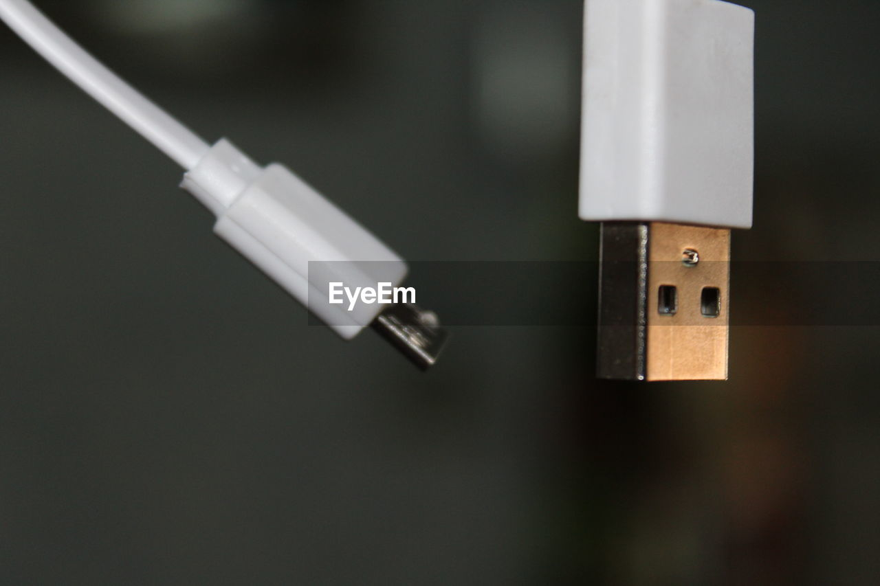 Close-up of usb cable
