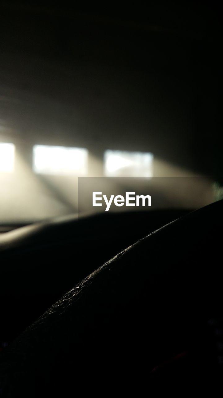dark, indoors, mode of transport, transportation, night, illuminated, car, land vehicle, no people, close-up