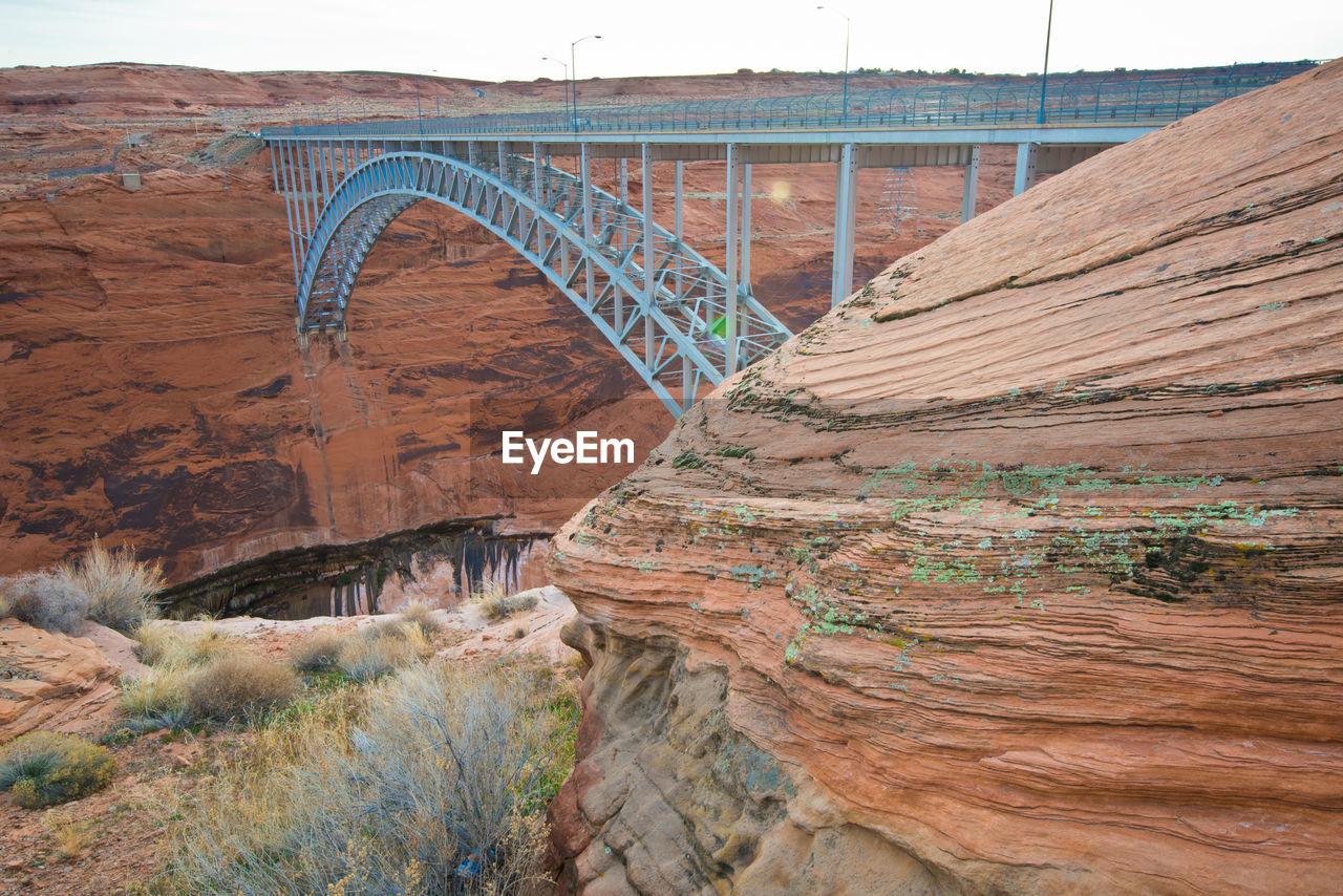 Glen Canyon Bridge amidst rock formations