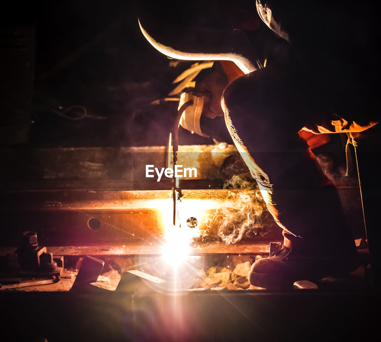 Man Working At Night