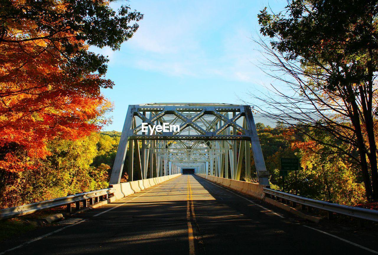 Empty Bridge During Autumn