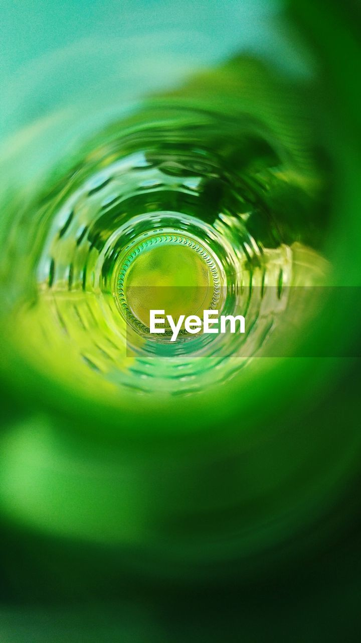close-up, no people, water, green color, rippled, drink, indoors, concentric, day, nature
