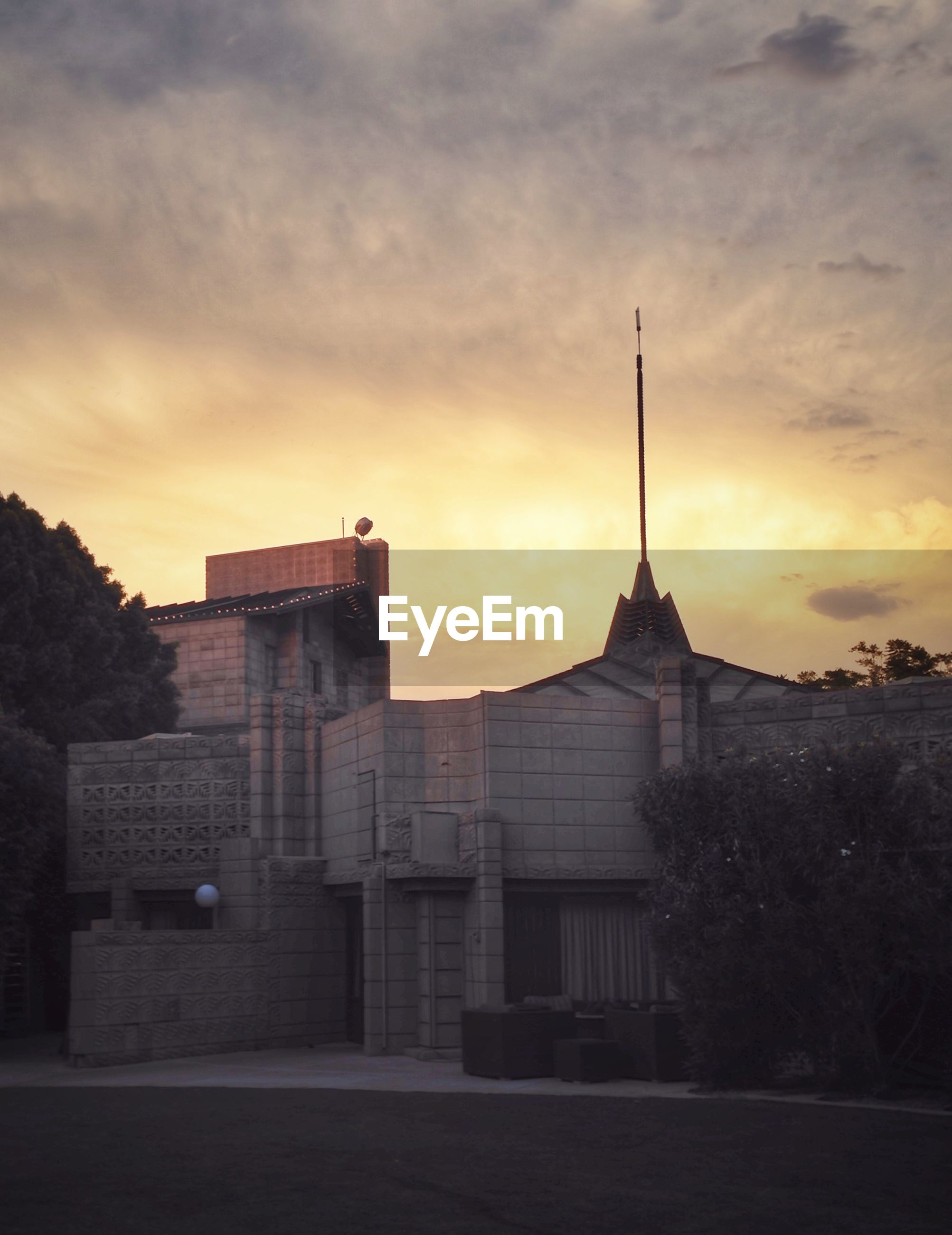 Arizona biltmore hotel against sunset sky