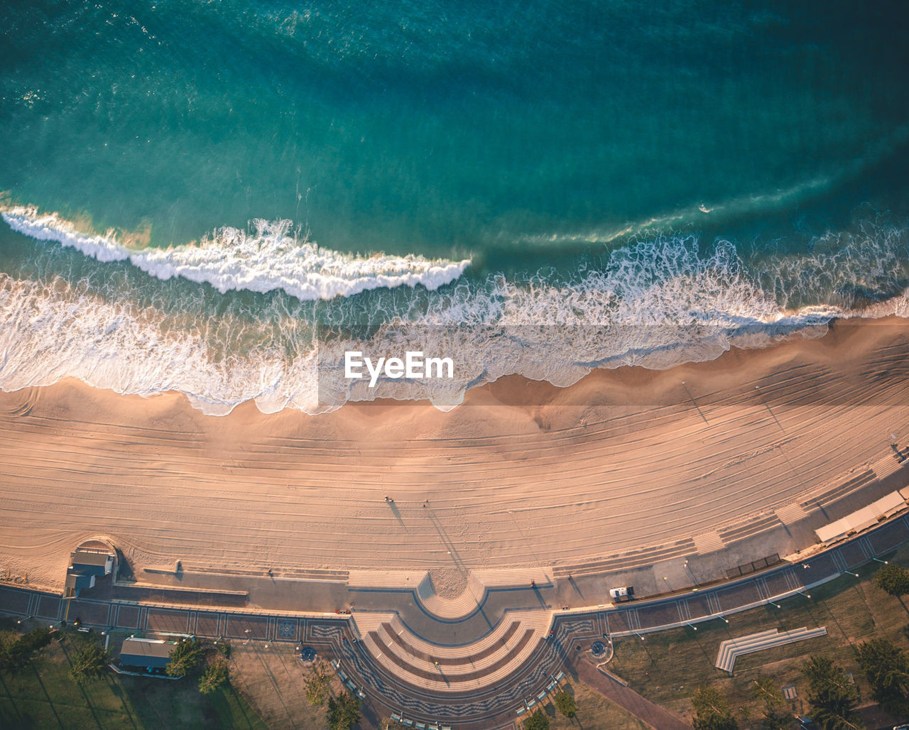 High Angle View Of Beach And Sea