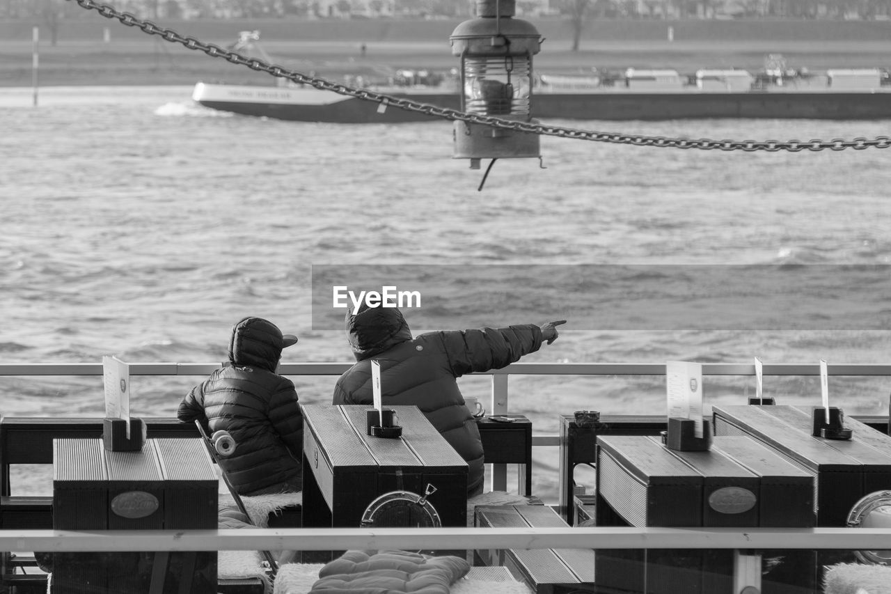 People Sitting In Ship On Rhine River
