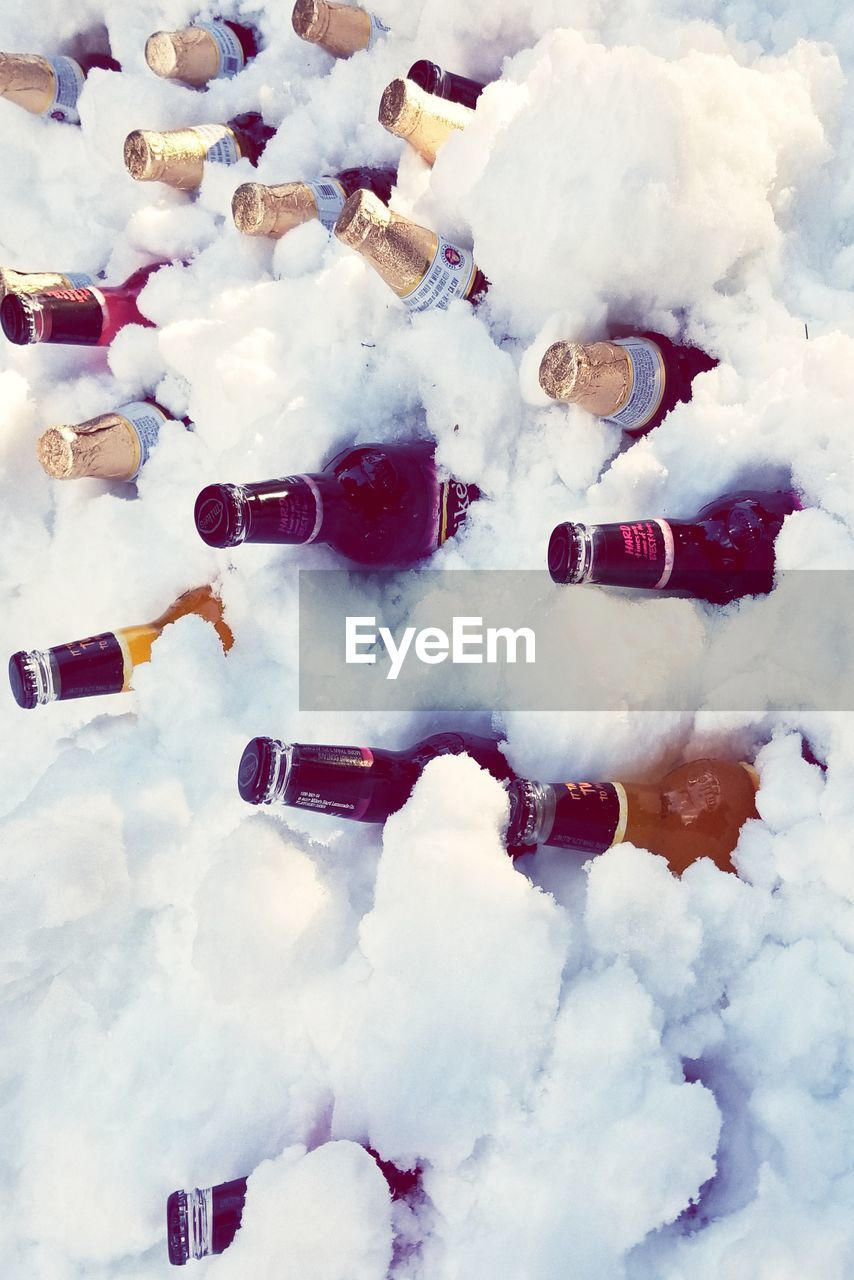 cloud - sky, no people, white color, day, sky, cold temperature, snow, nature, winter, outdoors, close-up, frozen, choice, large group of objects, high angle view