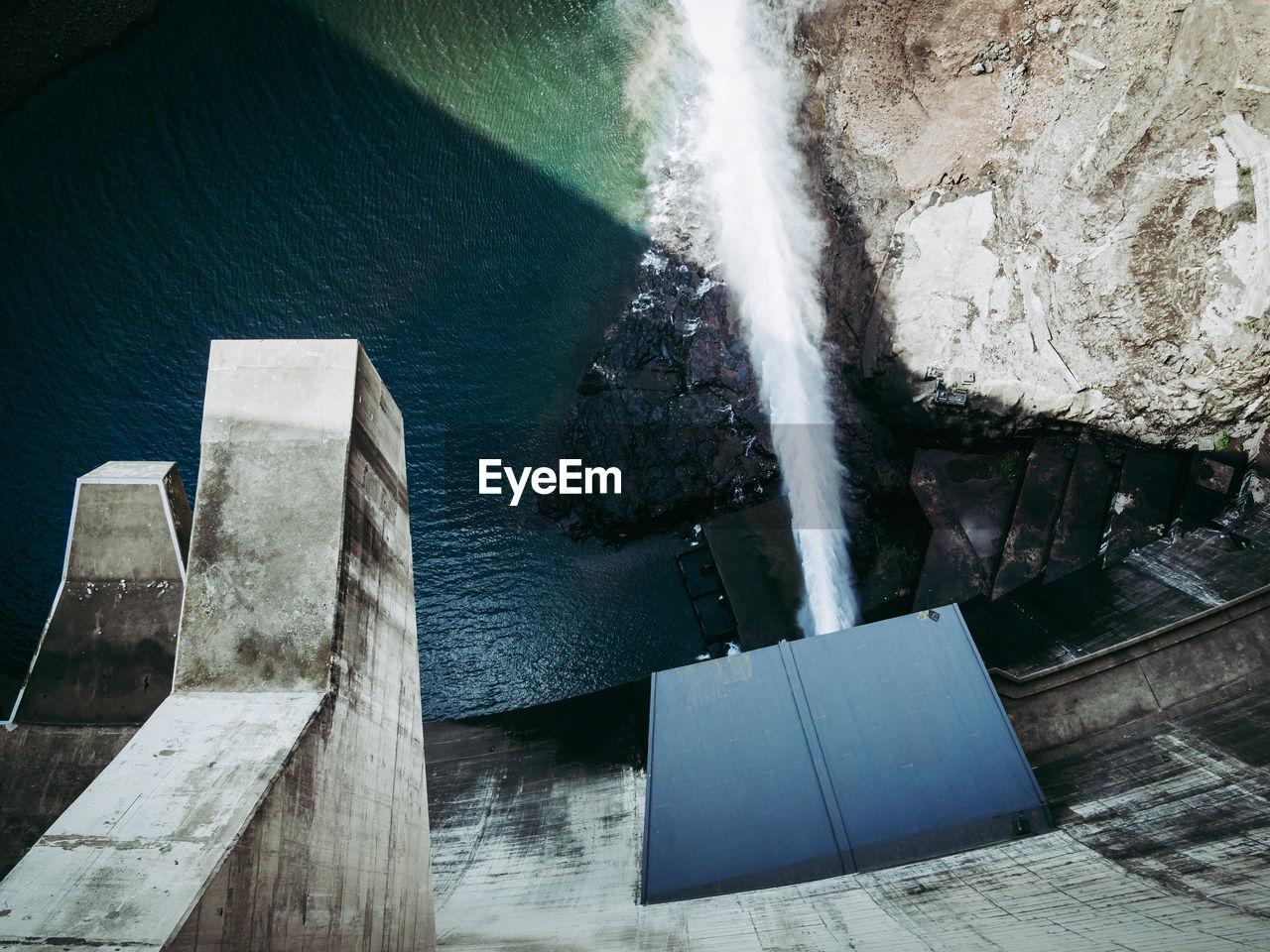 High Angle View Of Katse Dam Hydroelectric Power