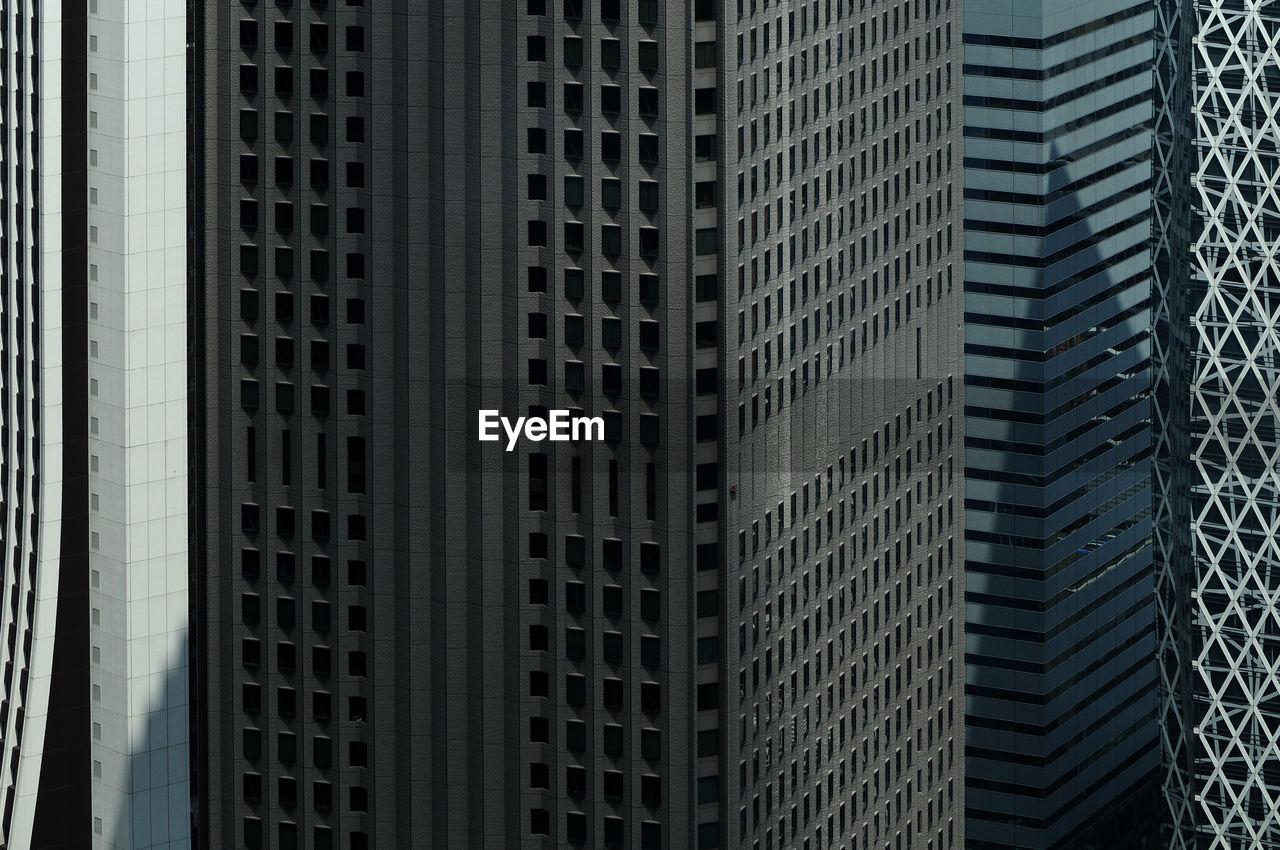 Full frame shot of office buildings