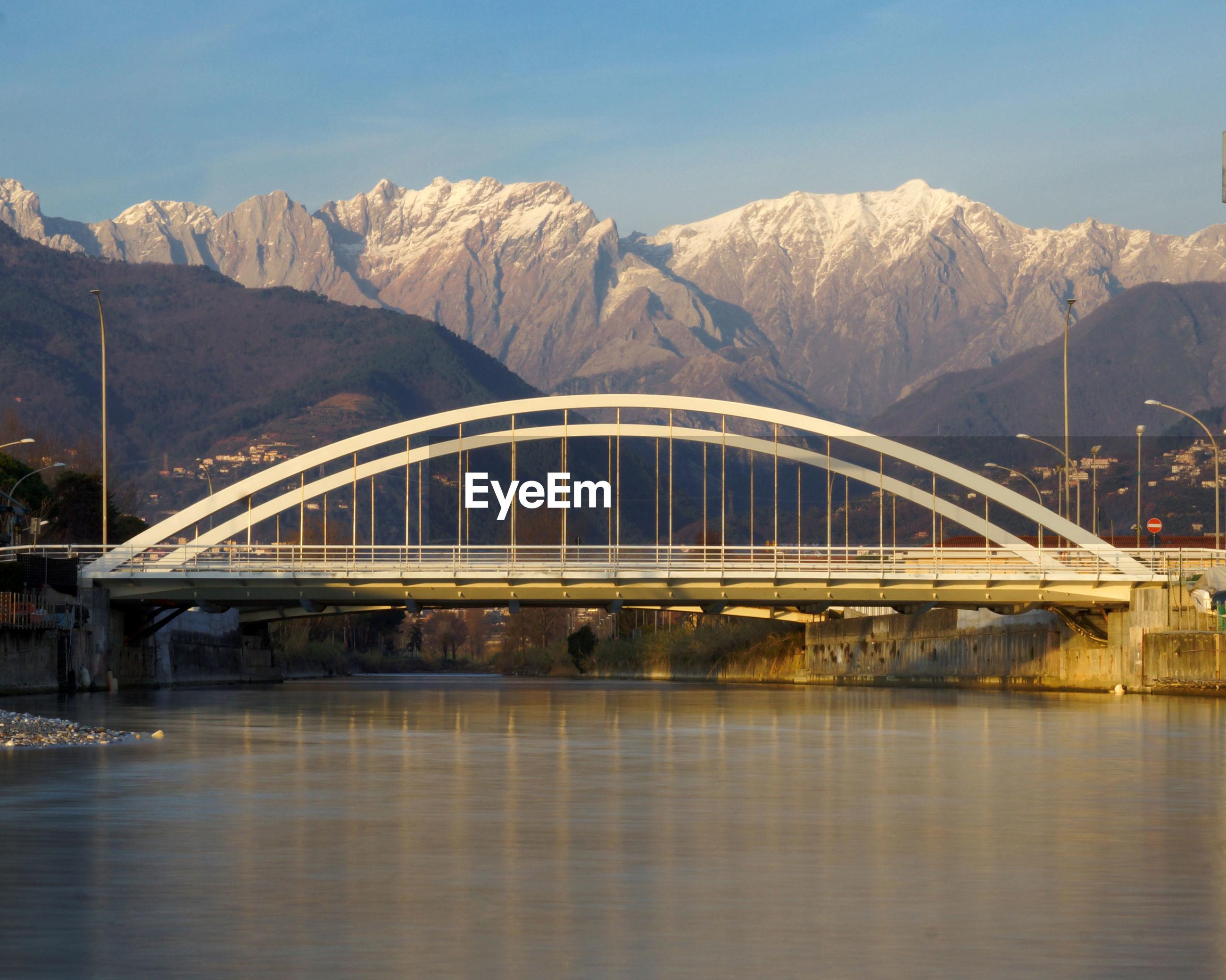 Bridge under apuan alps in marina di massa