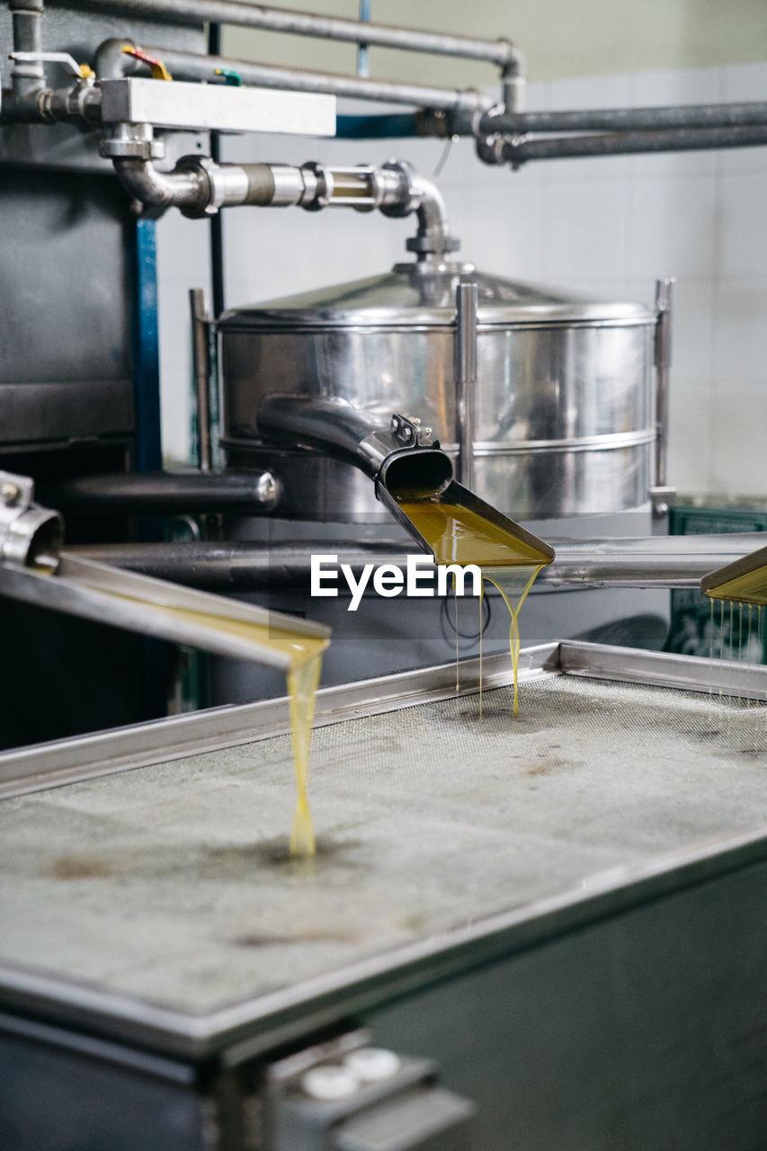 Freshly pressed olive oil