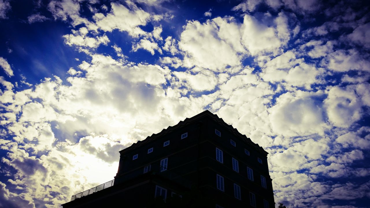 cloud - sky, sky, low angle view, building exterior, architecture, built structure, no people, outdoors, day