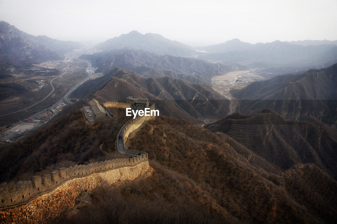 Great Wall Of China On Mountains