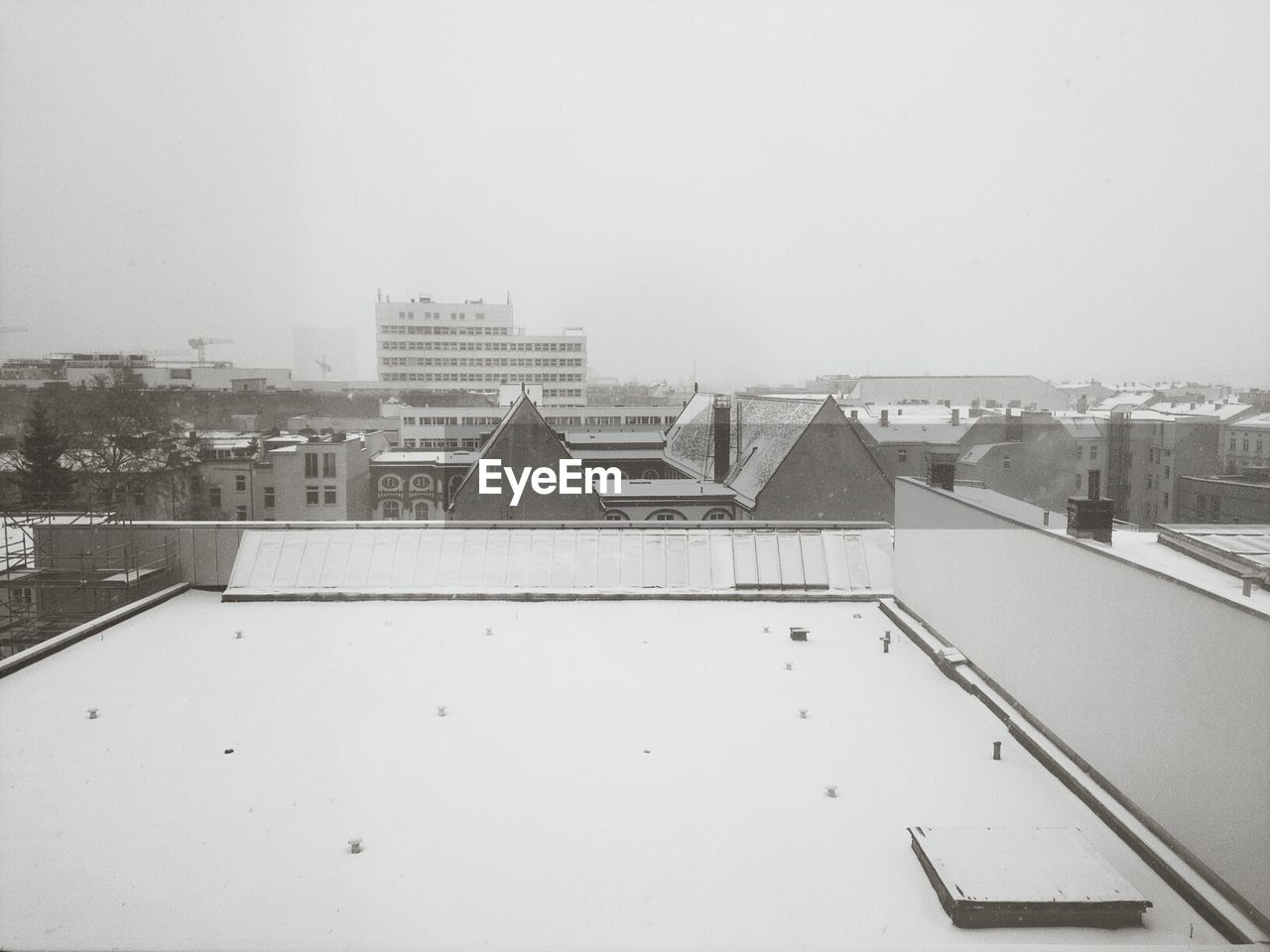 Cityscape Against Sky In Winter