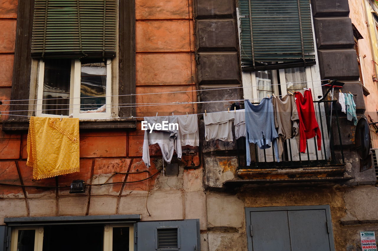 Clothes on the windows