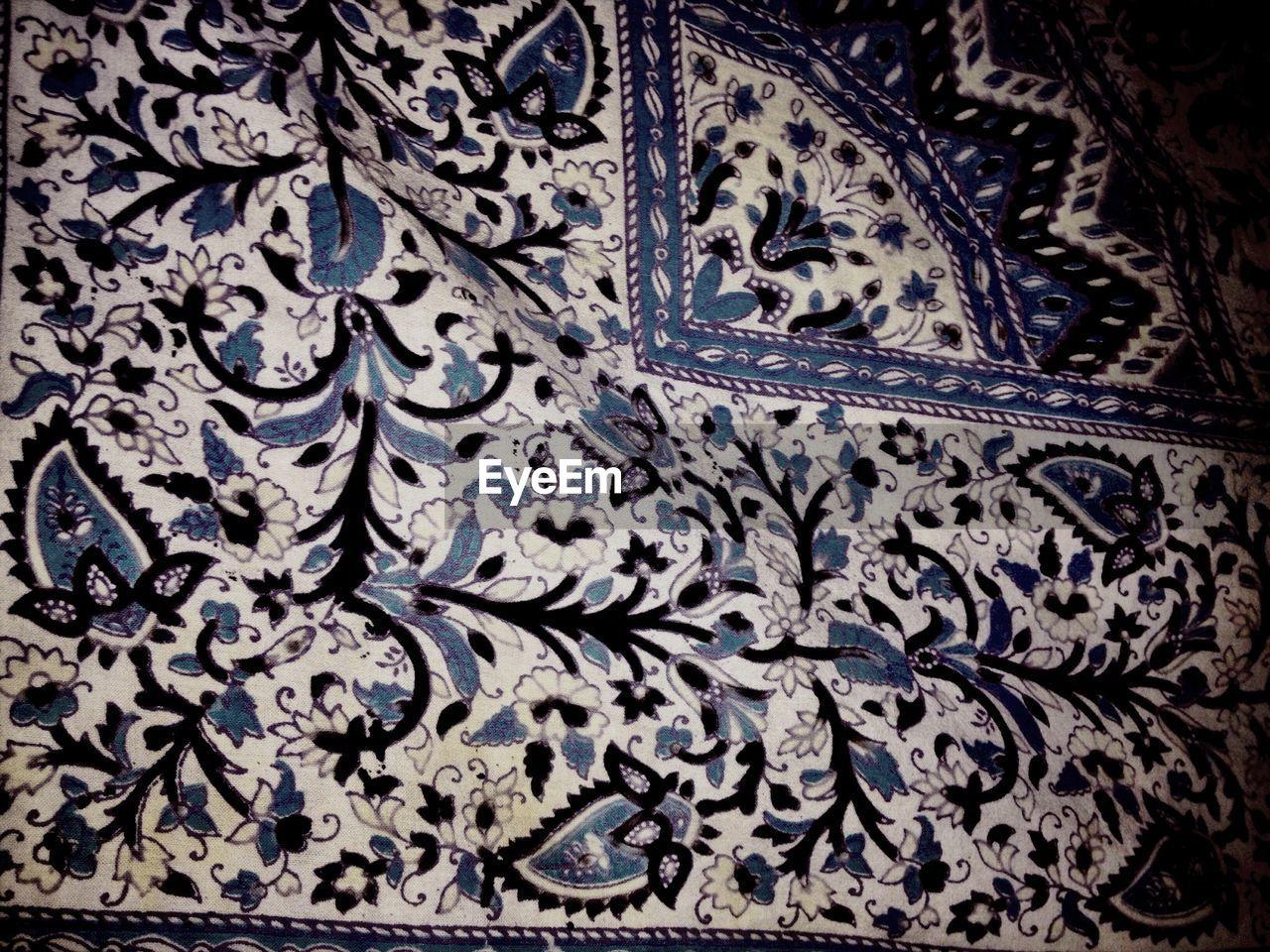 Full Frame Shot Of Design On Textile