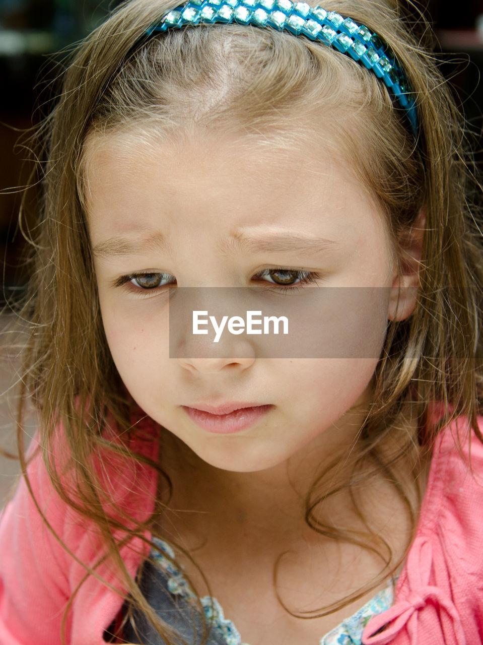 Close-up of sad girl