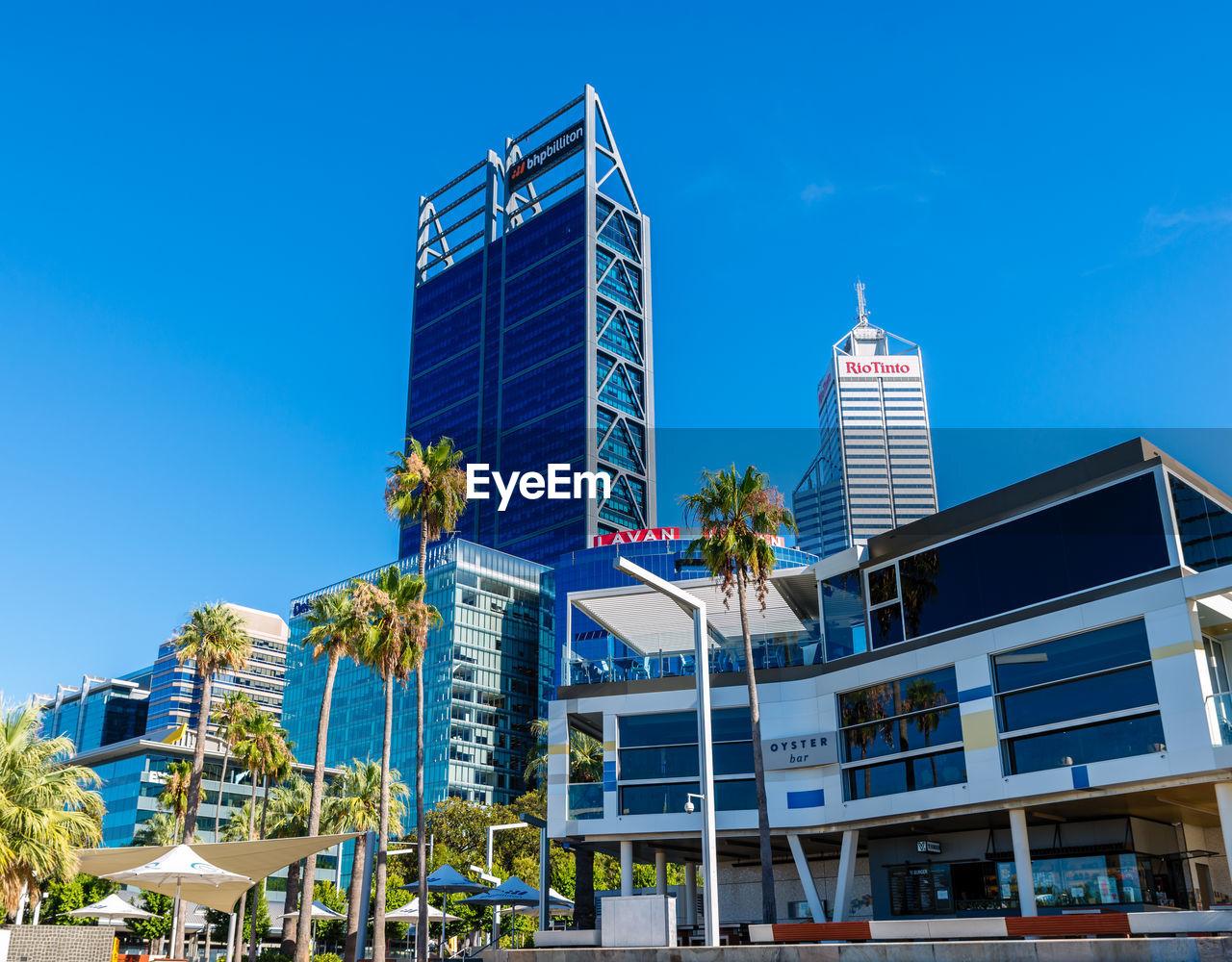 Perth, Western Australia, seen from Elizabeth Quay. Australia City Elizabeth Quay Perth Perth Australia Skyline Travel Western Australia Skyscraper Urban