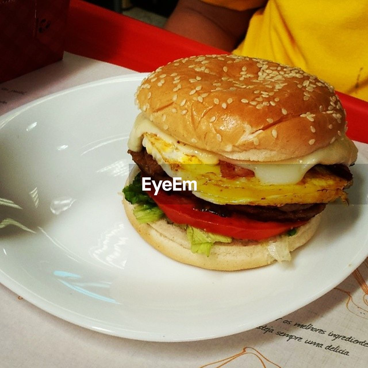 food, food and drink, burger, unhealthy eating, hamburger, plate, indoors, bun, fast food, ready-to-eat, indulgence, table, freshness, fried, meat, meal, serving size, take out food, close-up, no people, day