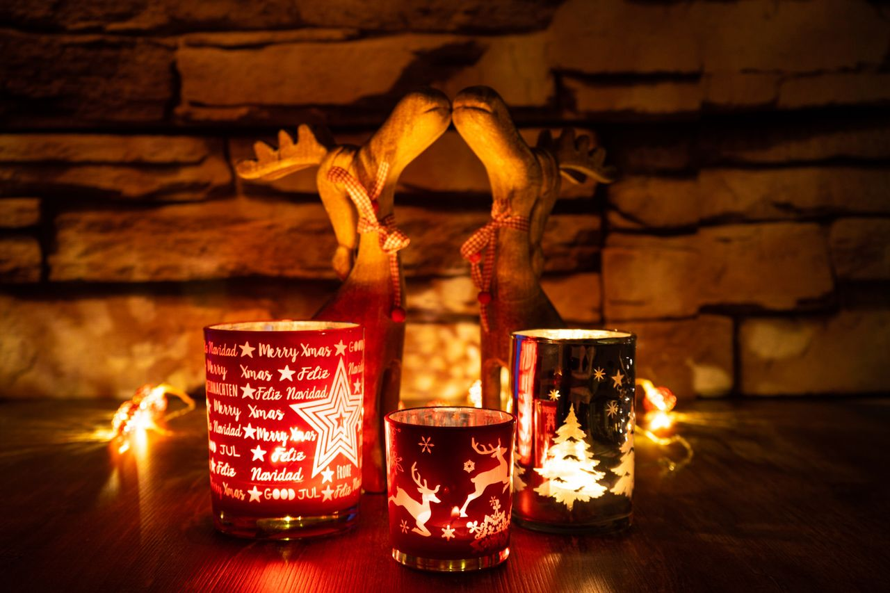 indoors, flame, table, candle, burning, illuminated, fire, drink, food and drink, no people, fire - natural phenomenon, refreshment, heat - temperature, glass, wall - building feature, wood - material, still life, close-up, focus on foreground, holiday, tea light