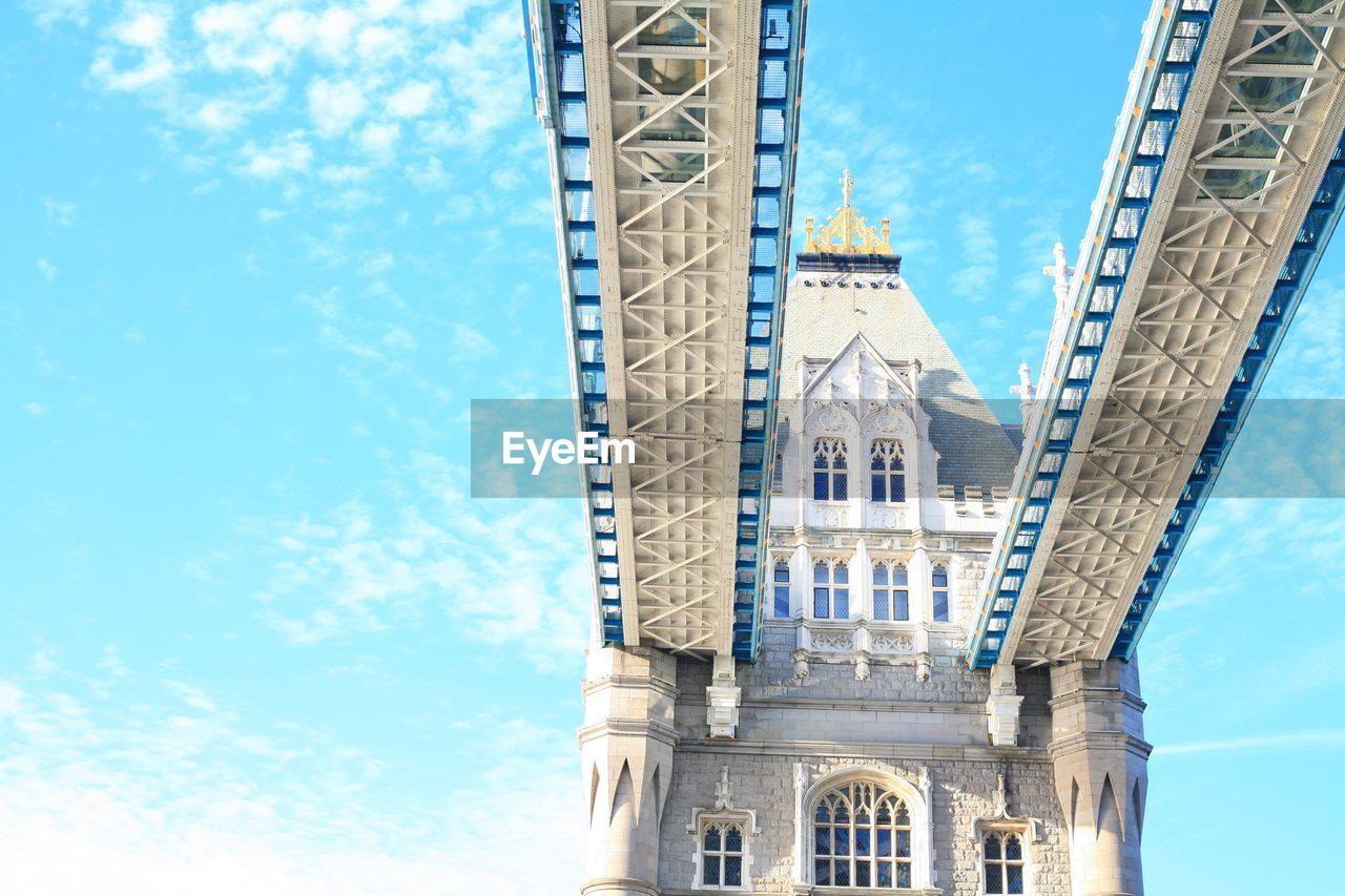 Low Angle View Of Tower Bridge Against Sky
