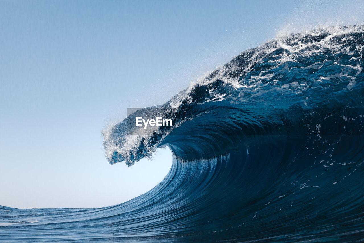 Blue wave in atlantic ocean