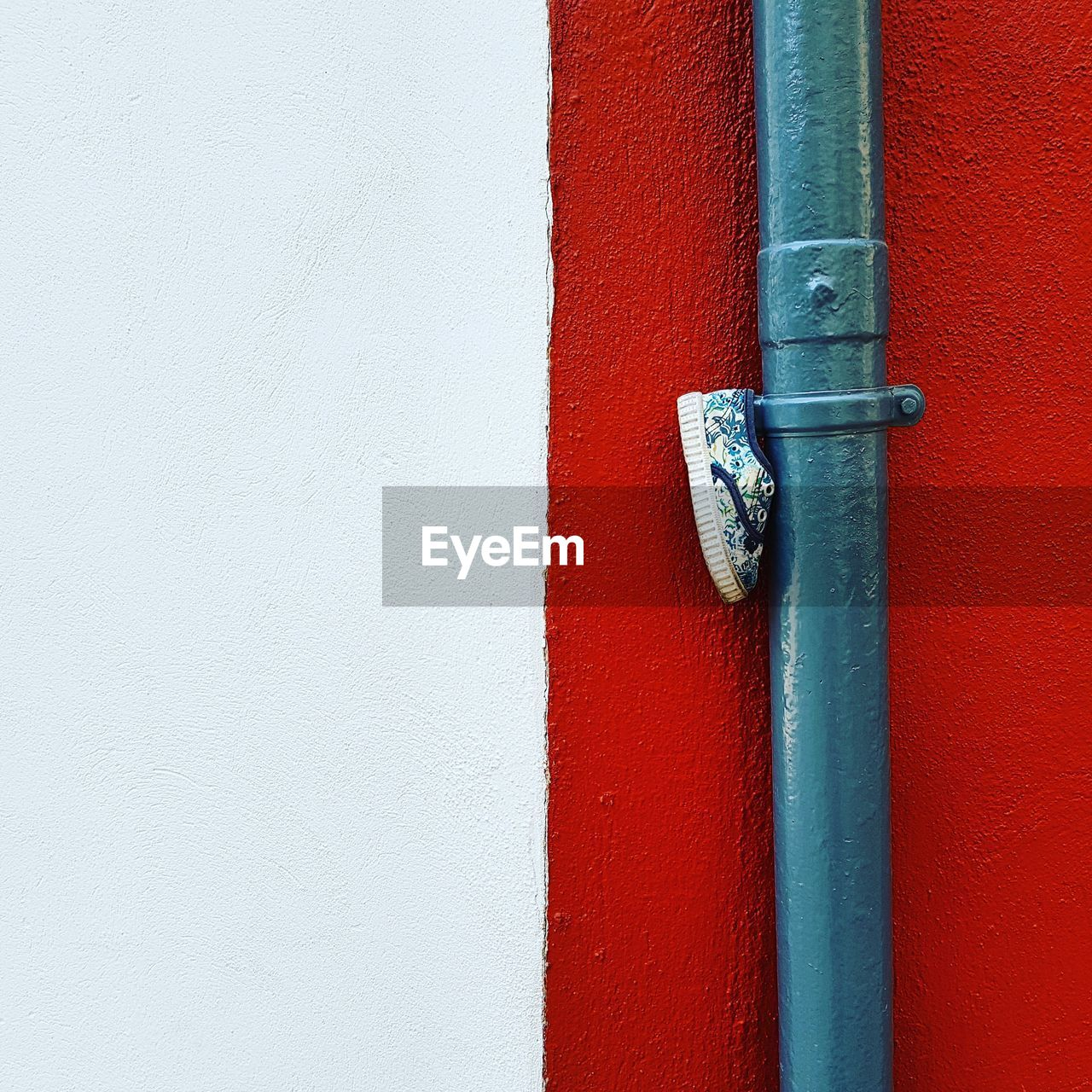 close-up, no people, red, wall - building feature, built structure, metal, architecture, day, entrance, building exterior, door, safety, copy space, outdoors, wood - material, connection, white color, hinge, protection, security, latch