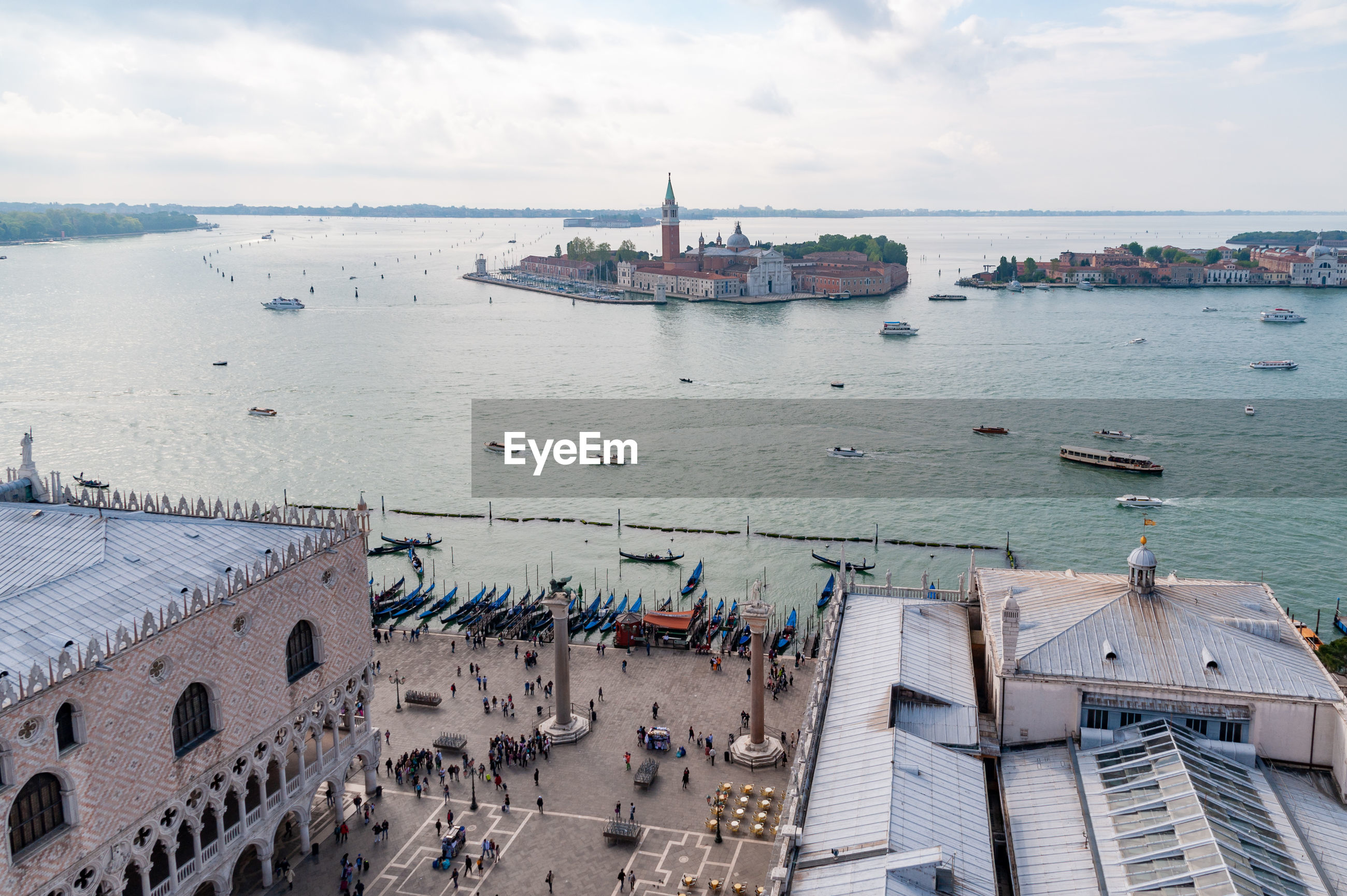Venetian lagoon from st mark's campanile