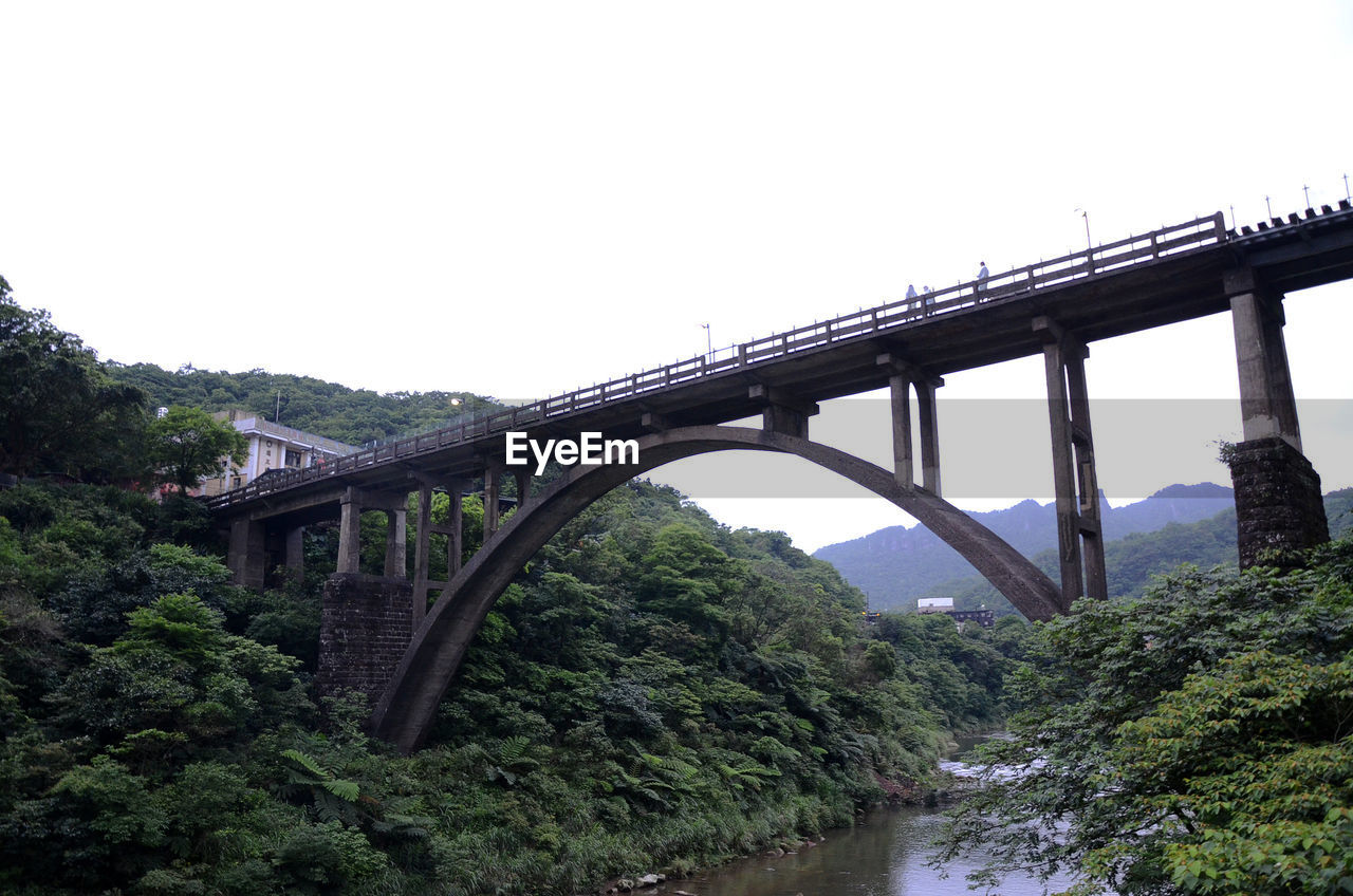 bridge, connection, bridge - man made structure, built structure, water, architecture, plant, sky, tree, river, transportation, nature, clear sky, engineering, arch, copy space, day, arch bridge, outdoors