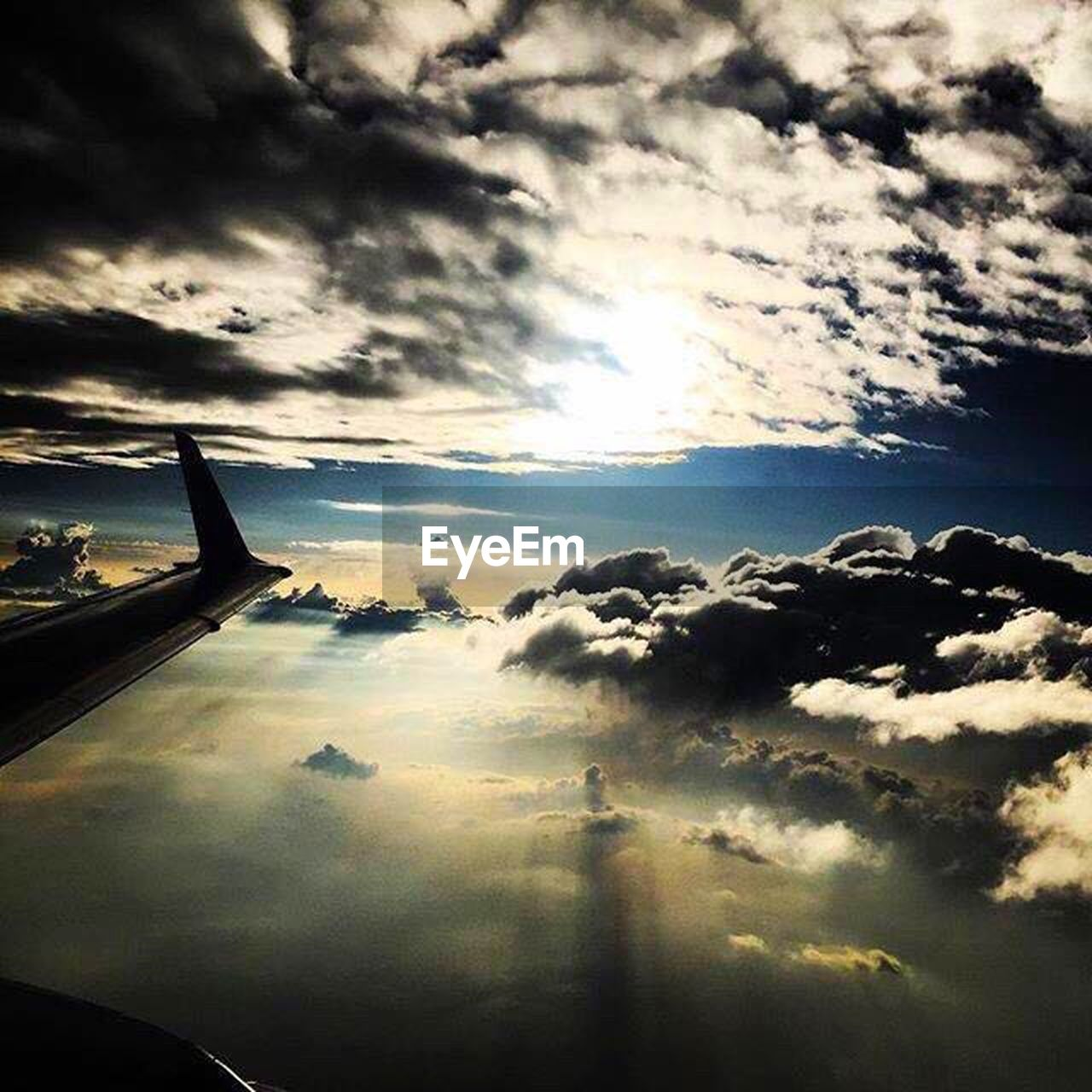 cloud - sky, sky, cloudscape, transportation, no people, sunset, nature, beauty in nature, scenics, mode of transport, tranquility, outdoors, airplane, day, airplane wing