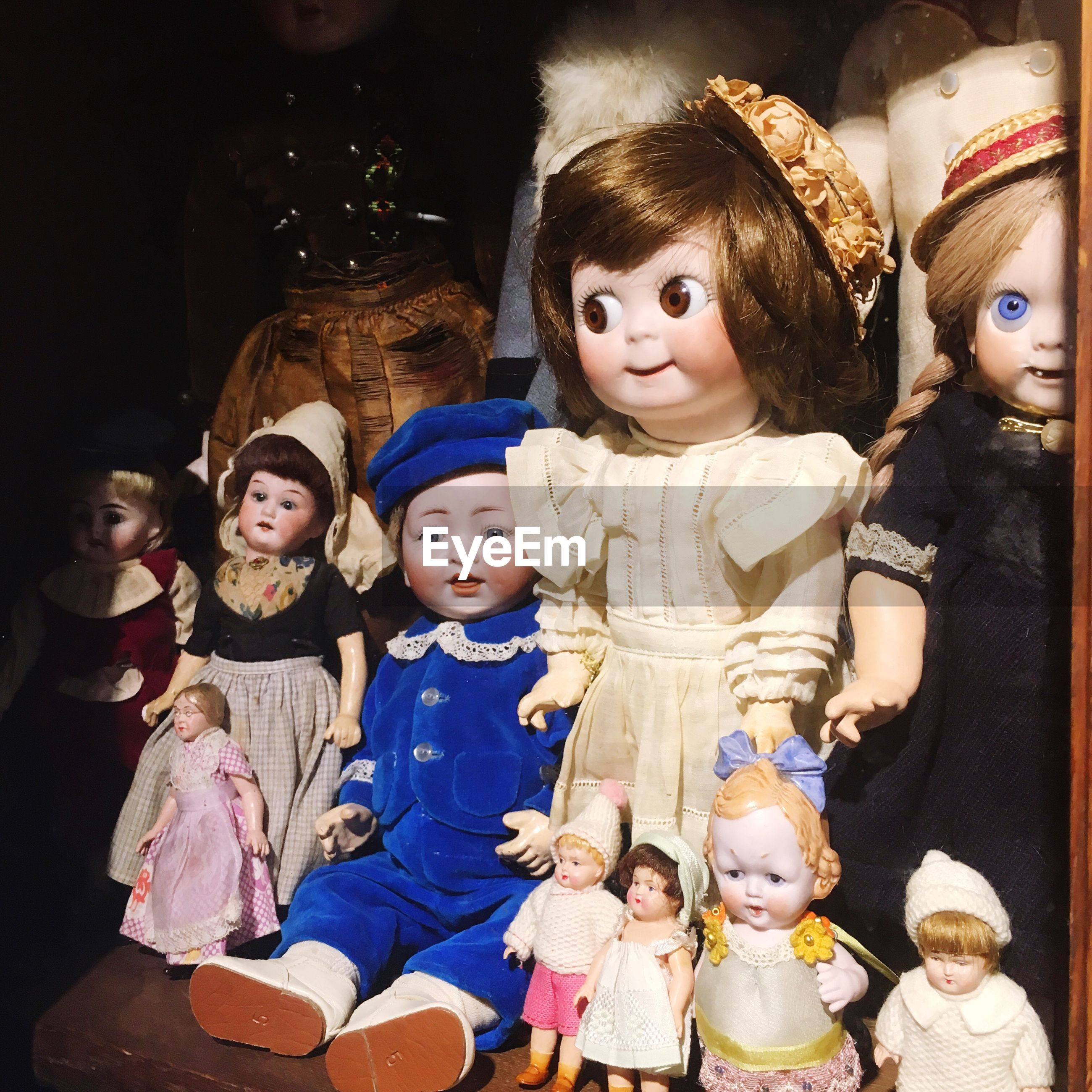 childhood, costume, girls, celebration, human representation, boys, real people, cultures, indoors, medium group of people, lifestyles, holiday - event, doll, sculpture, halloween, day