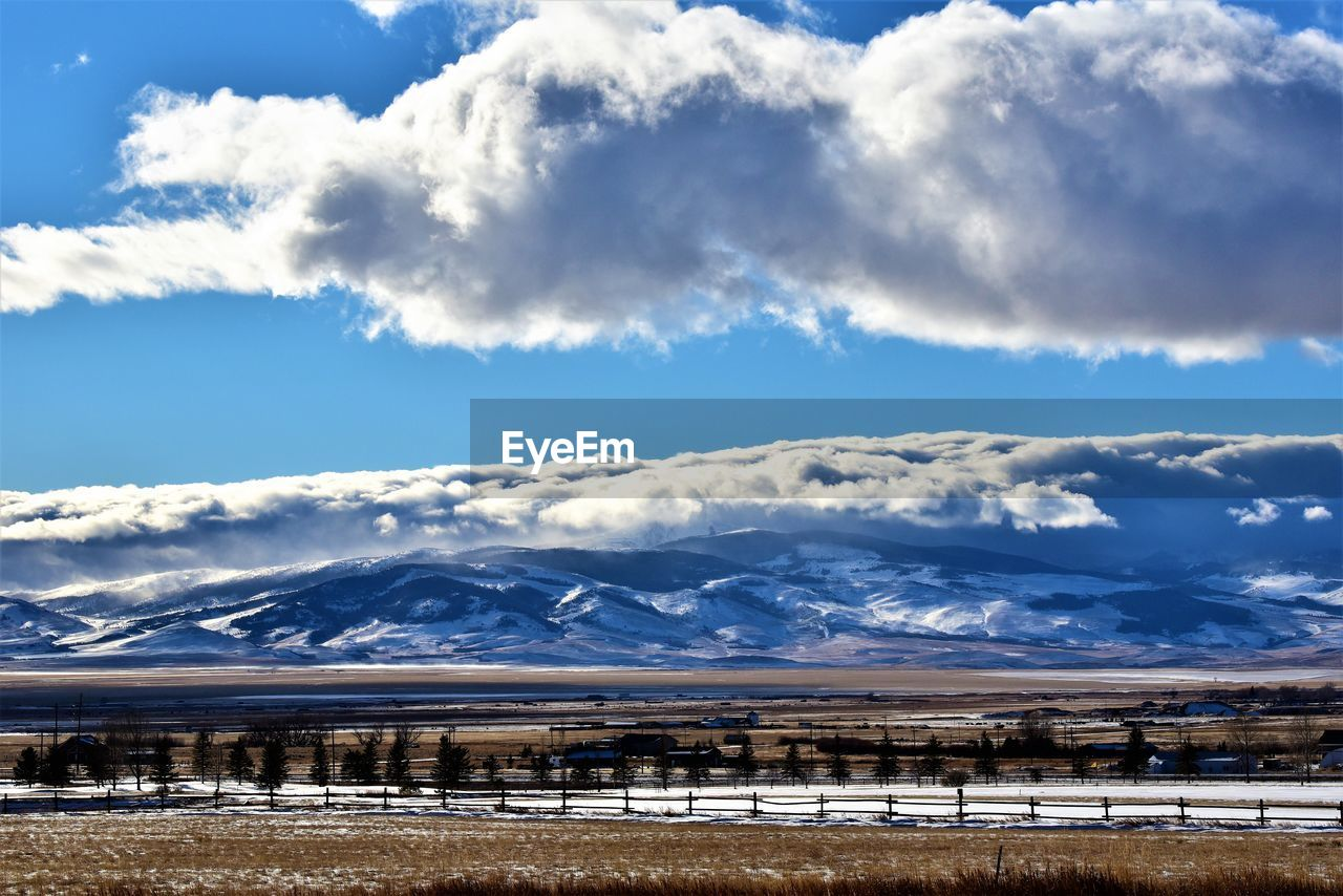 cloud - sky, sky, scenics - nature, beauty in nature, mountain, tranquil scene, nature, tranquility, environment, snow, winter, cold temperature, non-urban scene, mountain range, landscape, no people, day, snowcapped mountain, water, outdoors