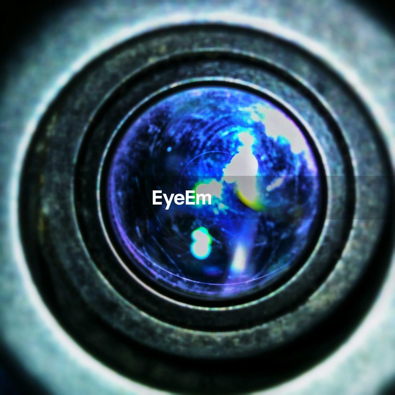 circle, close-up, indoors, no people, camera - photographic equipment, technology, day, eyeball