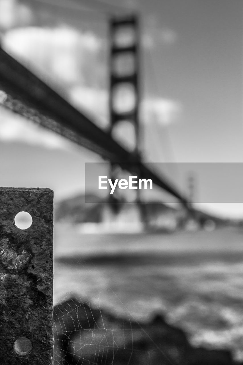 no people, focus on foreground, day, close-up, outdoors, built structure, architecture, water, sky, nature