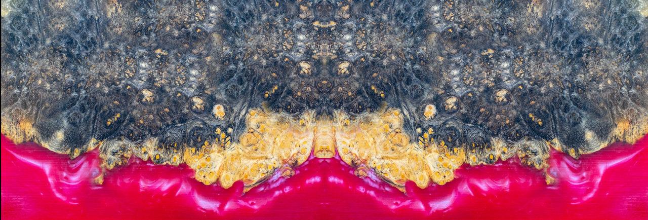 Casting epoxy resin stabilizing afzelia burl wood background
