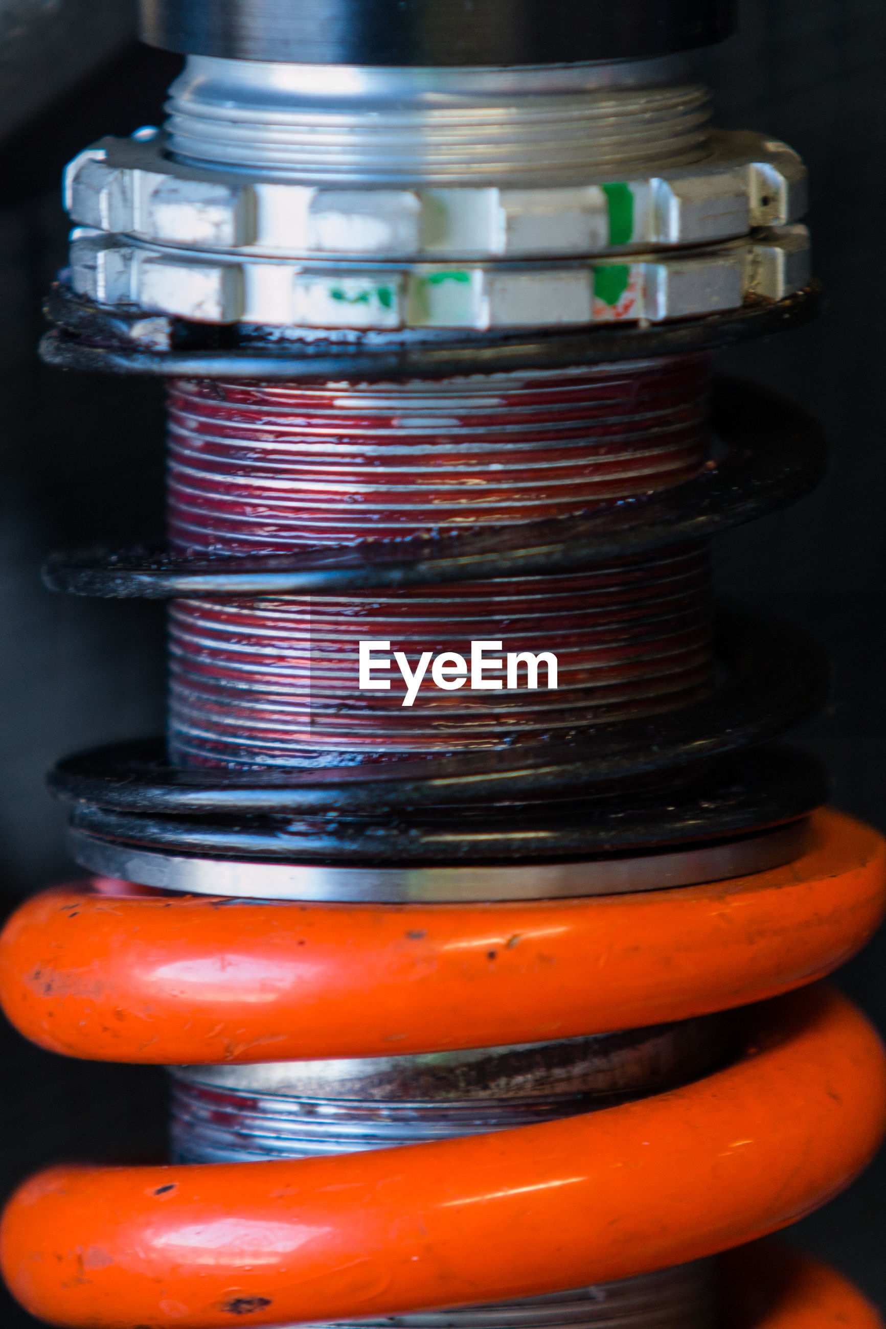 Close-up of shock absorber